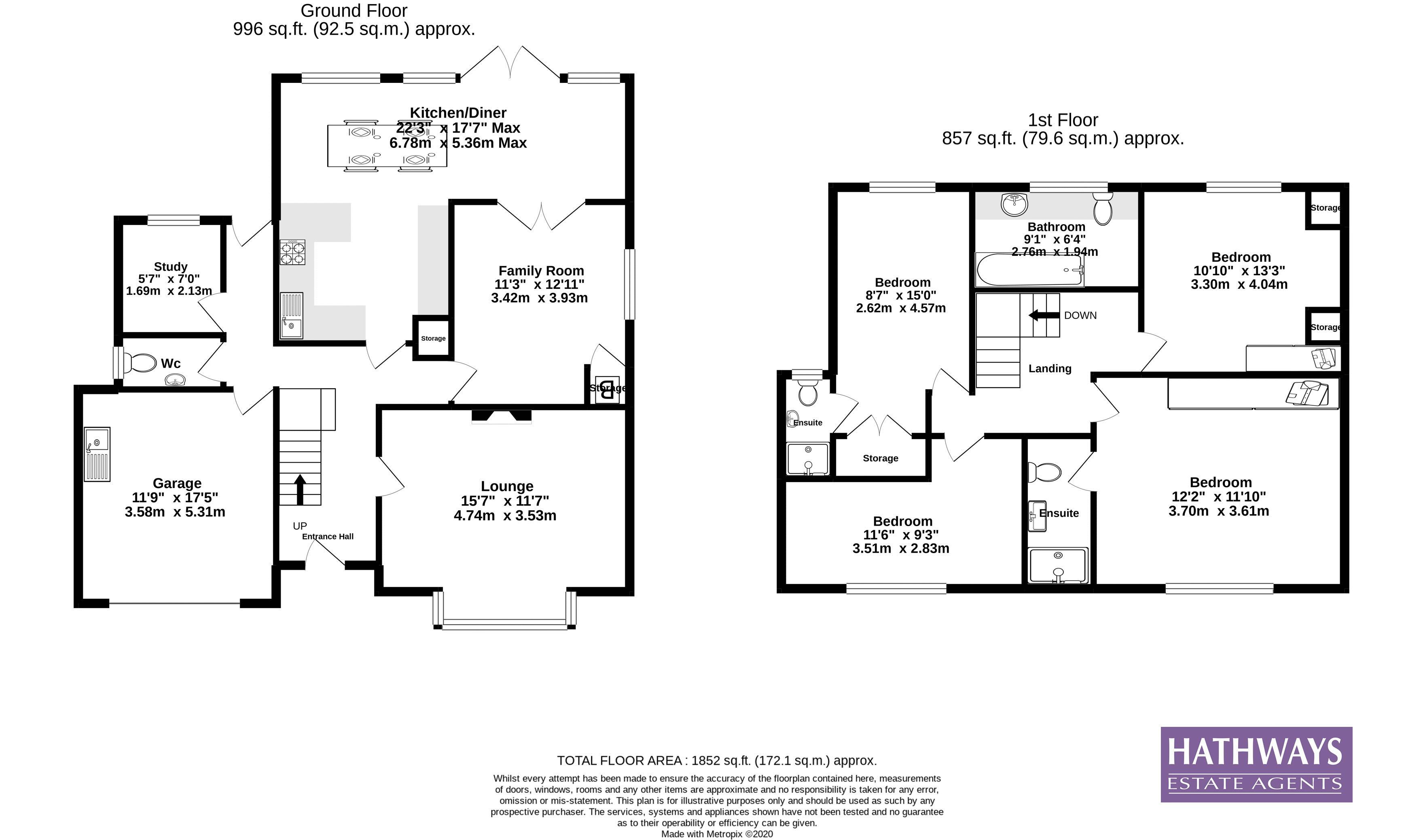 4 bed house for sale in Ashford Close South - Property Floorplan