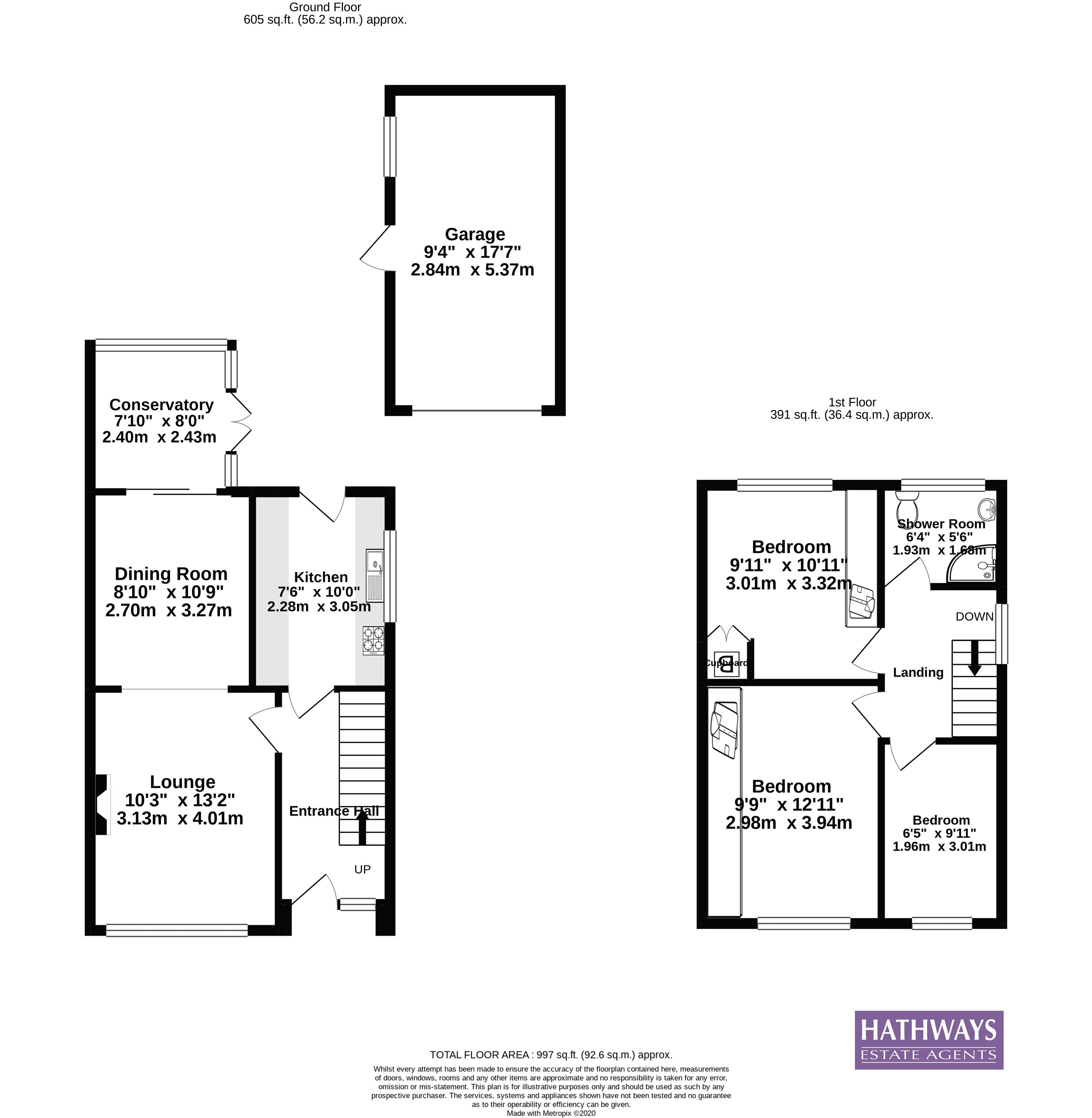 3 bed house for sale in Larch Grove - Property Floorplan