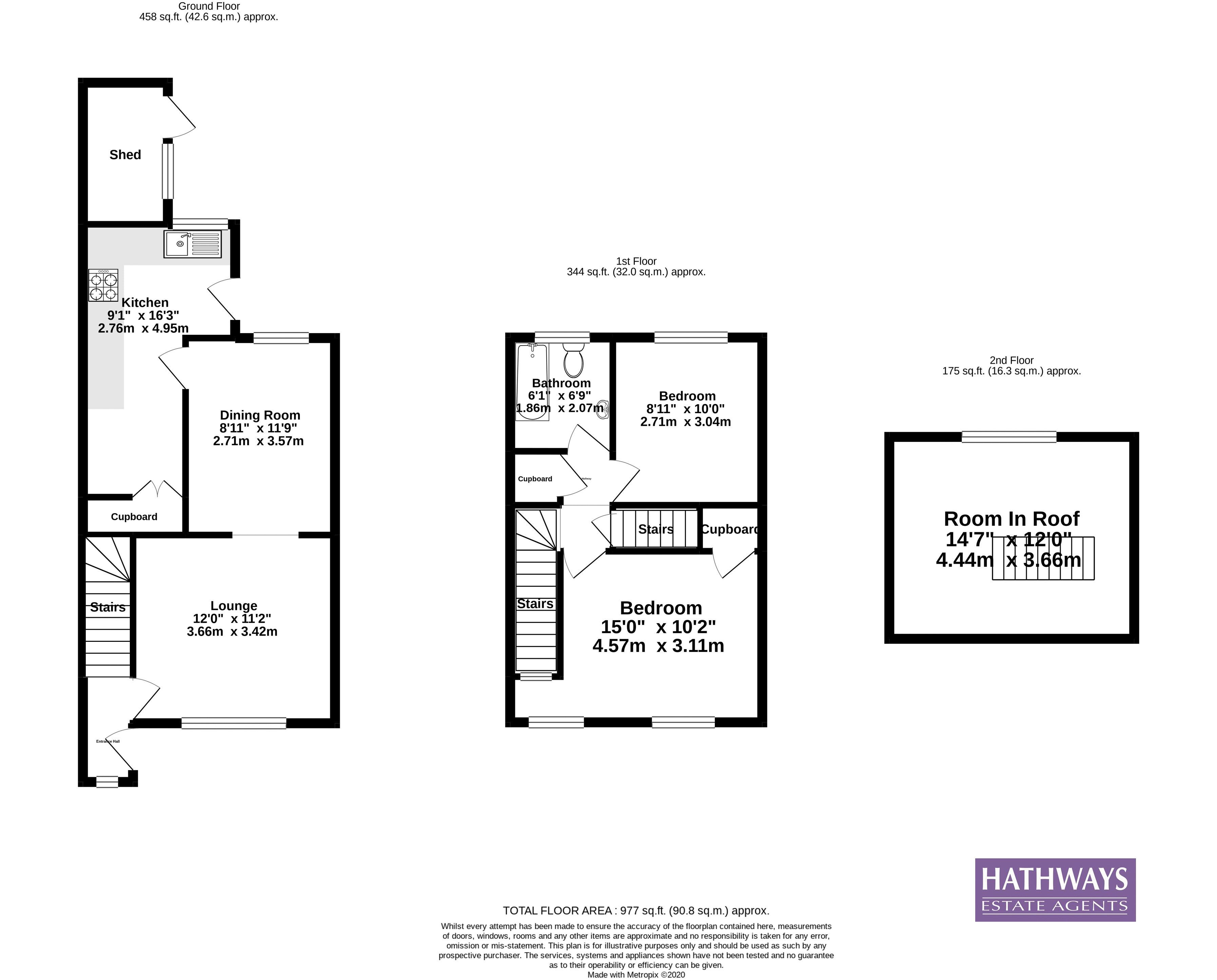 2 bed house for sale in King Street - Property Floorplan