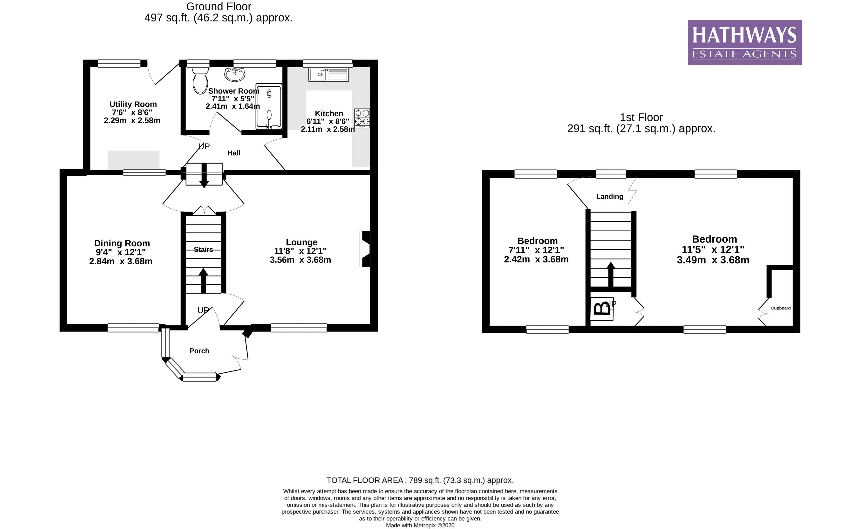 2 bed house for sale in Cwmynyscoy Road - Property Floorplan