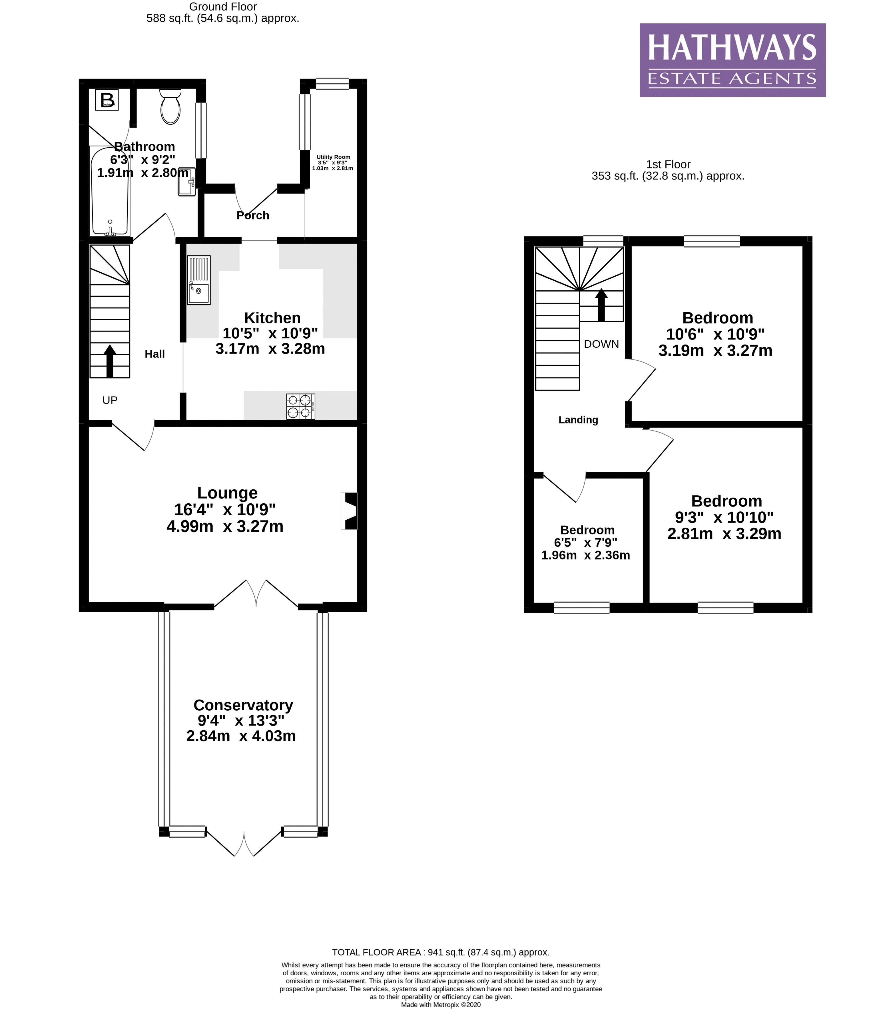 3 bed house for sale in Gladstone Place - Property Floorplan