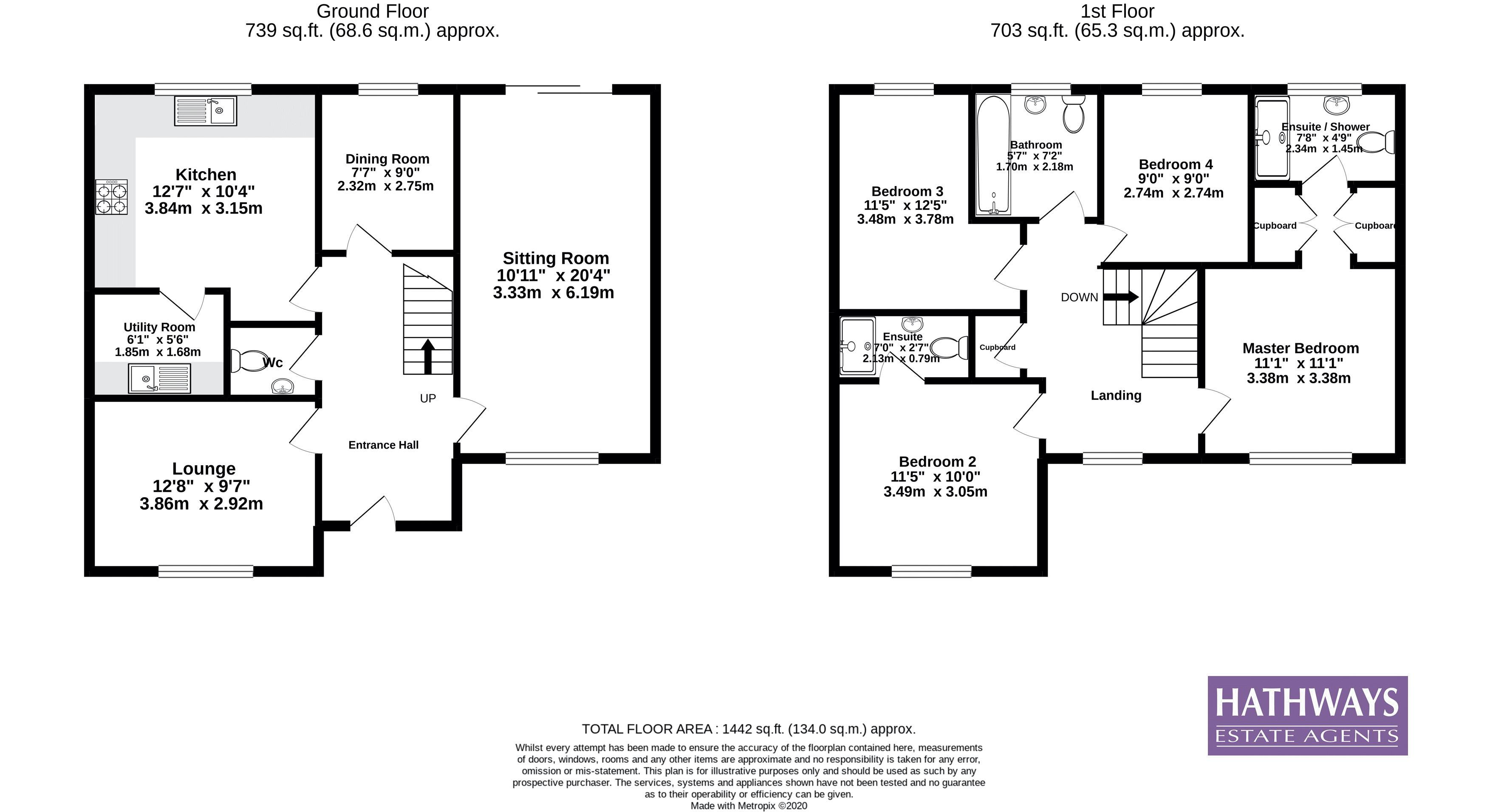 4 bed house for sale in Mill House Court - Property Floorplan