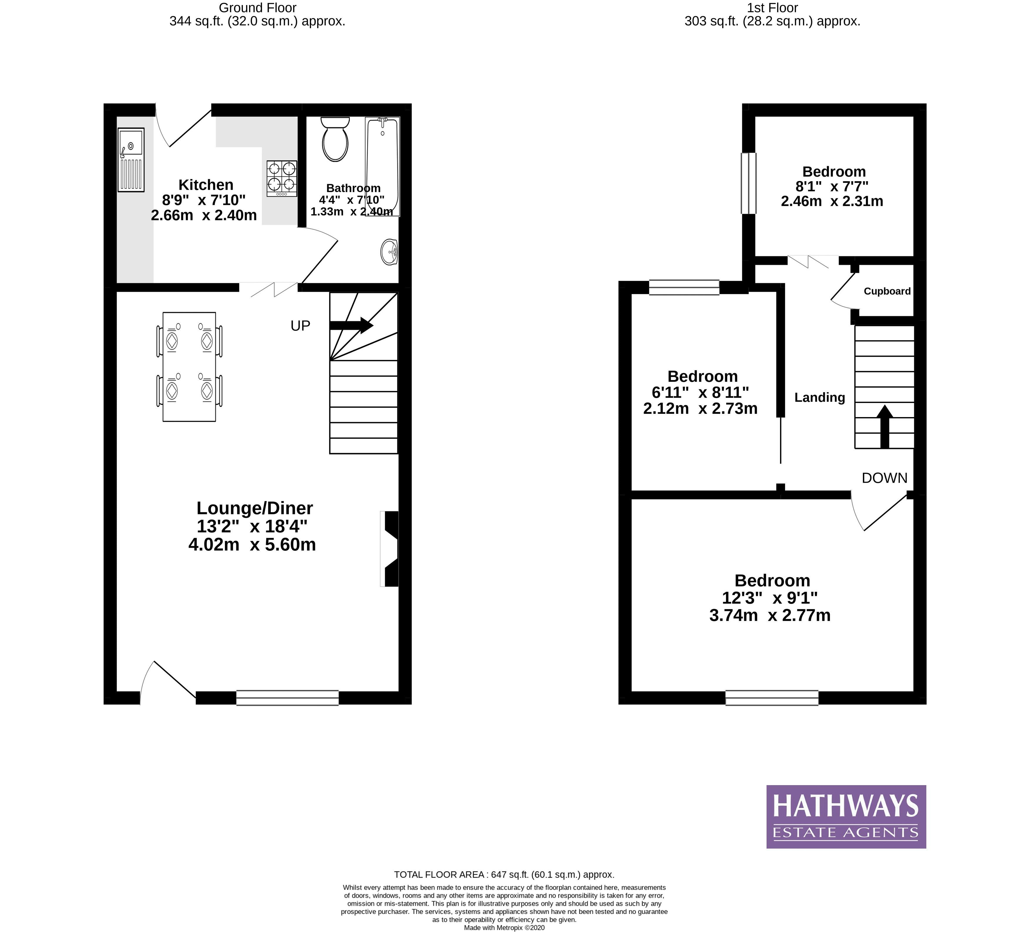 3 bed house for sale in Station Road - Property Floorplan