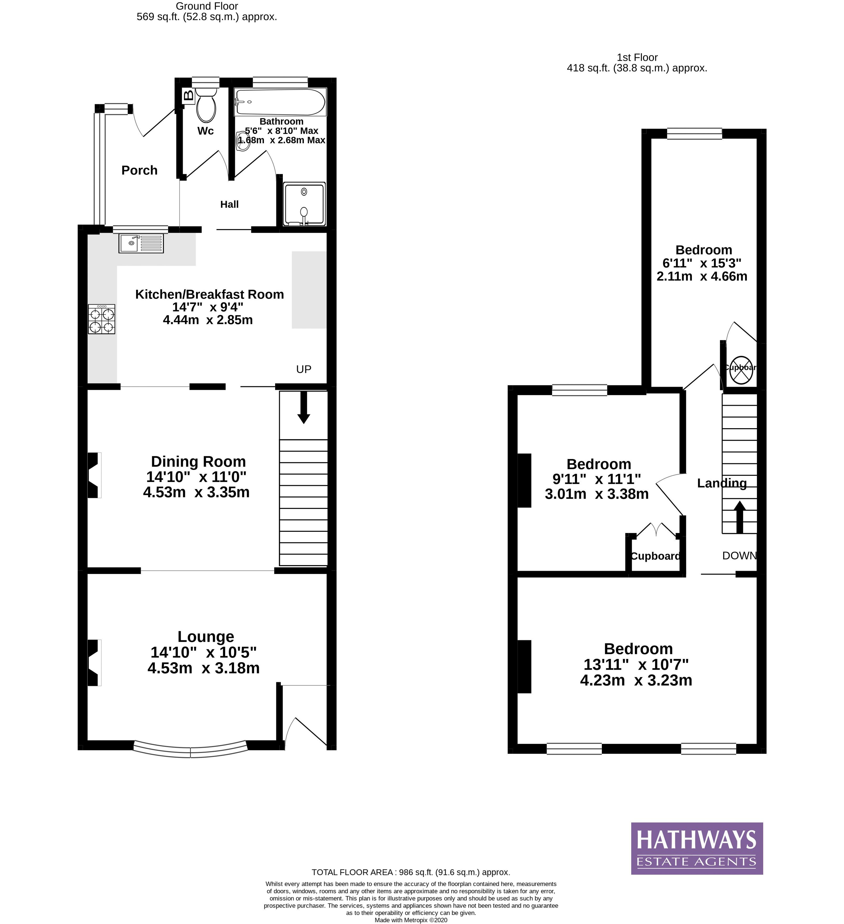 3 bed house for sale in Star Street - Property Floorplan