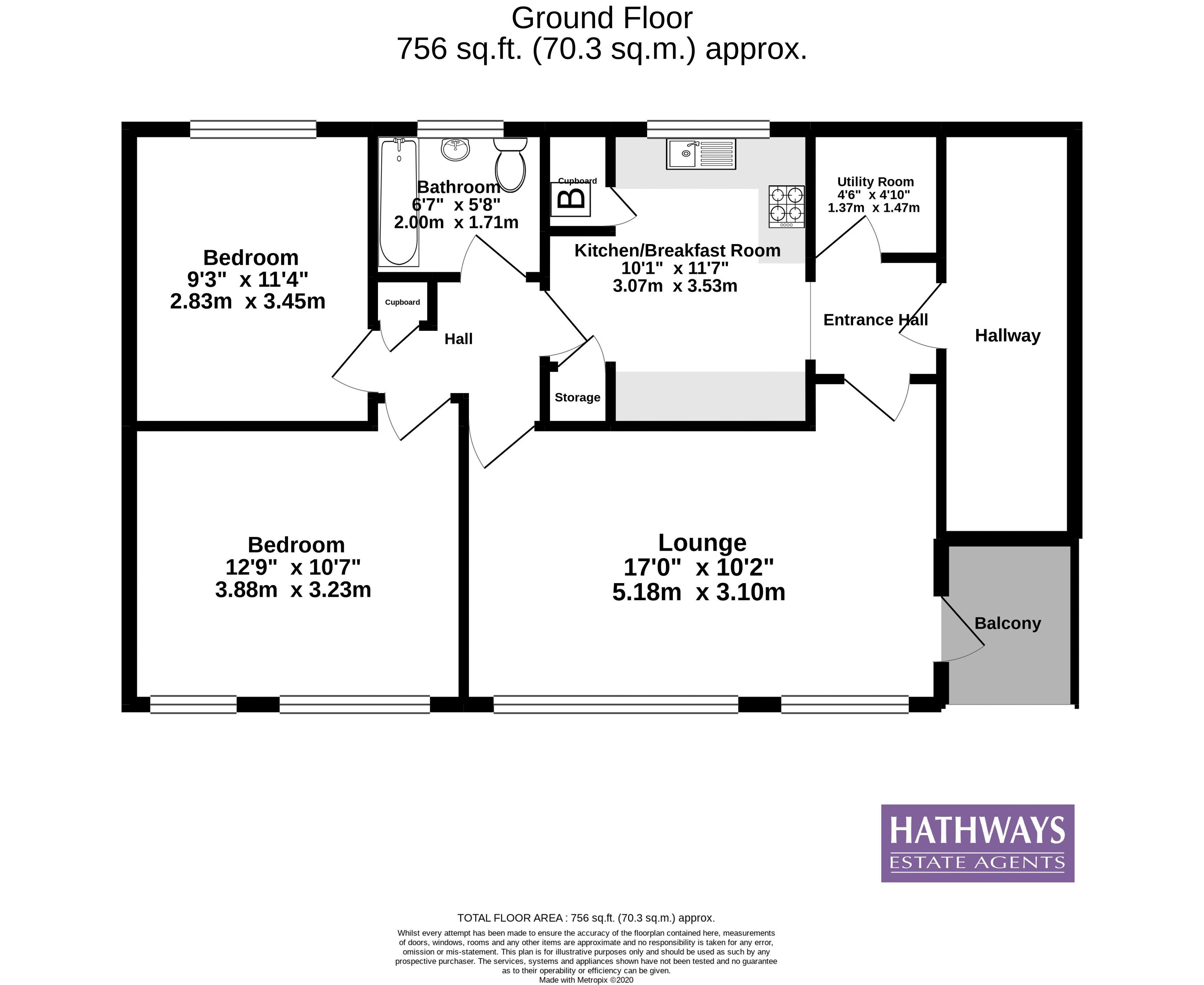 2 bed flat for sale in Longbridge Estate - Property Floorplan