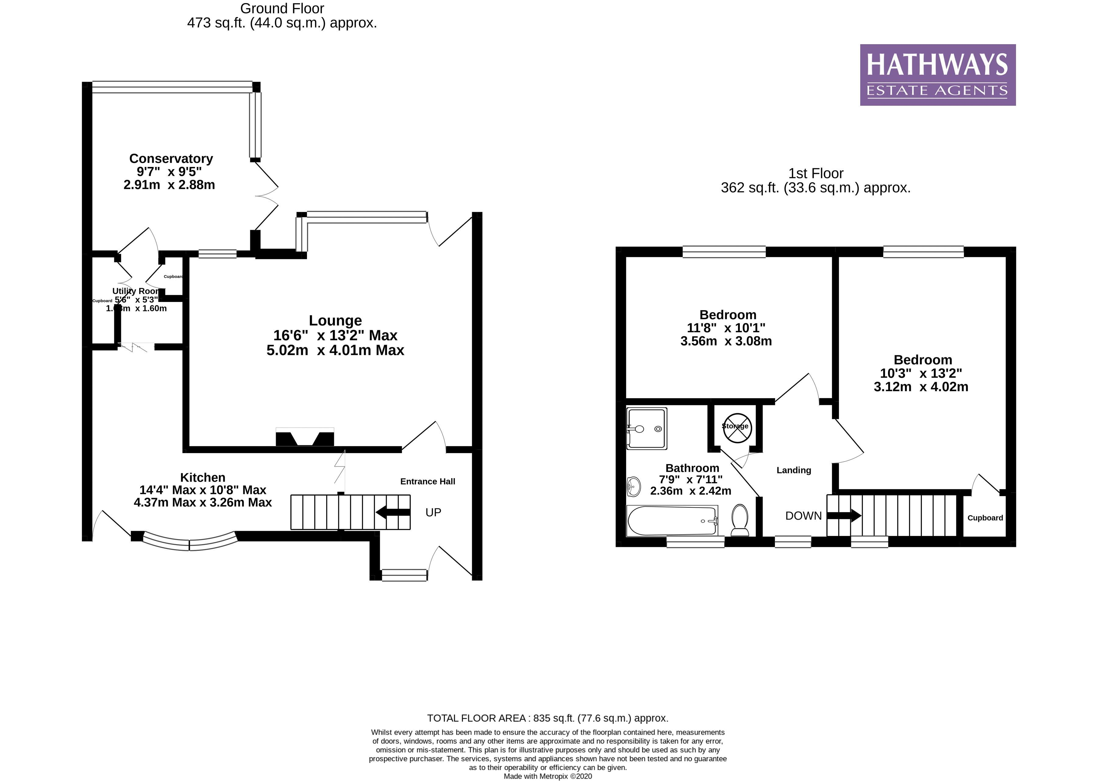 2 bed house for sale in Ty Box Road - Property Floorplan