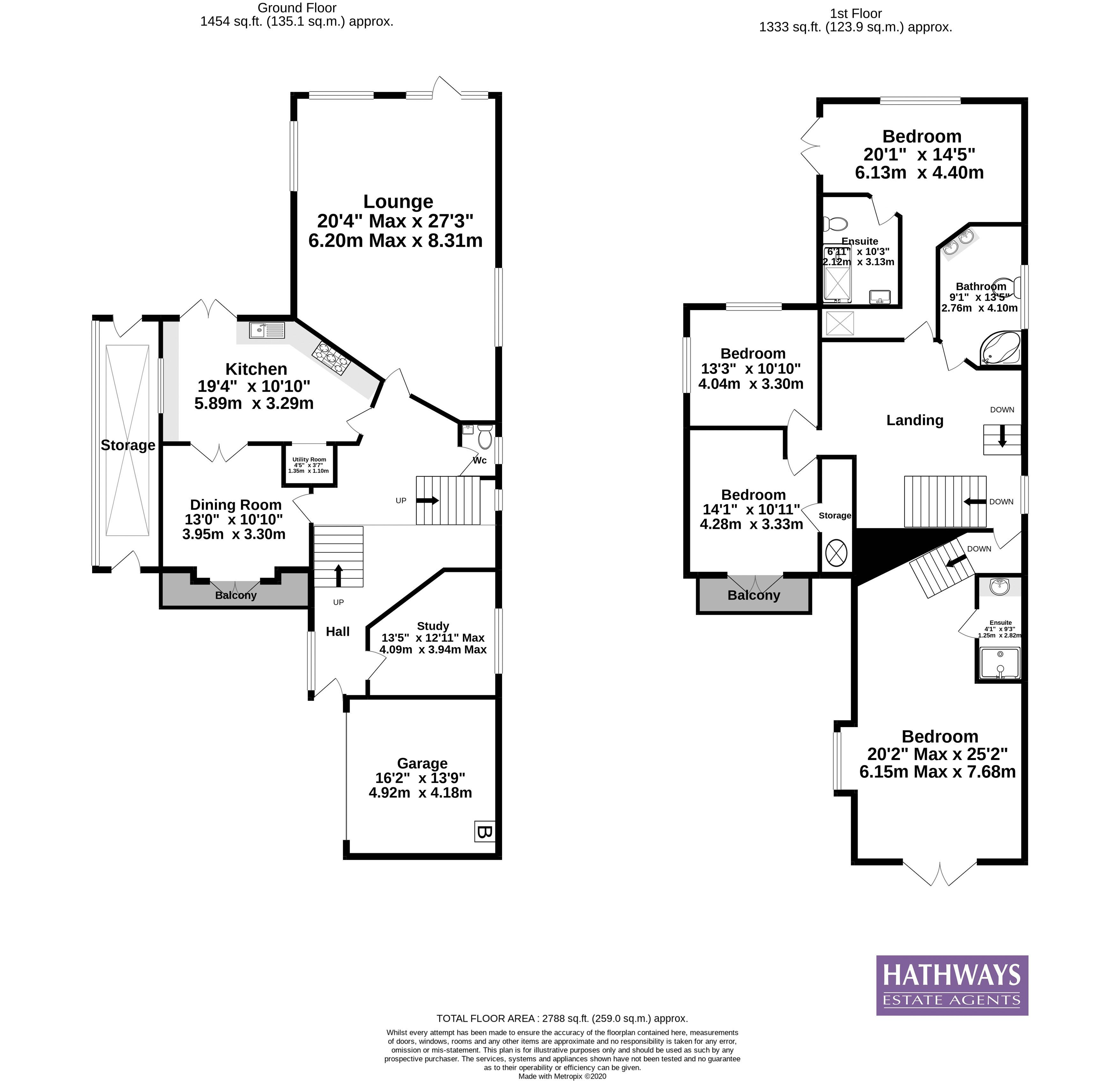 4 bed house for sale in Trinity View - Property Floorplan