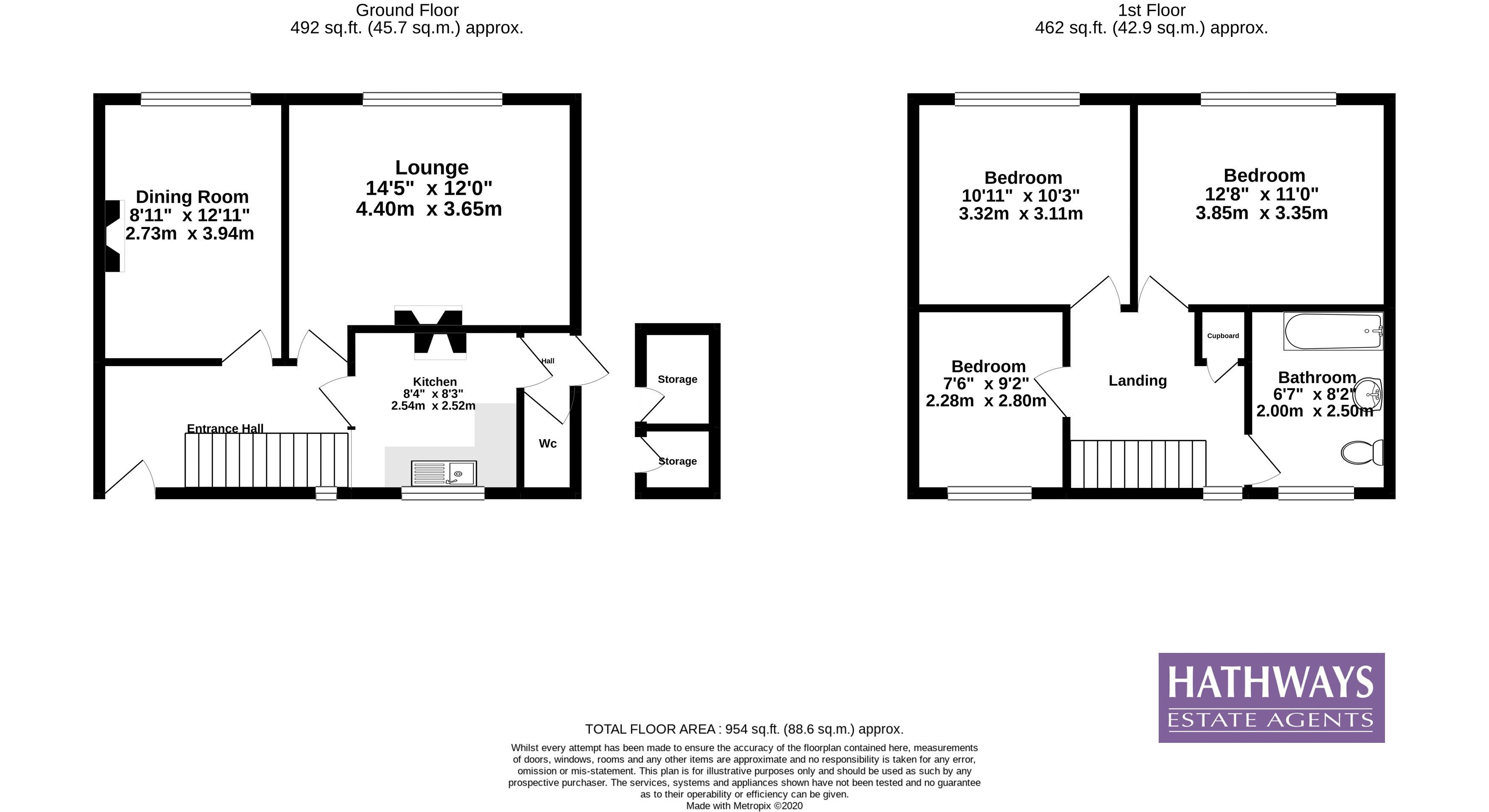 3 bed house for sale in Upland Drive - Property Floorplan