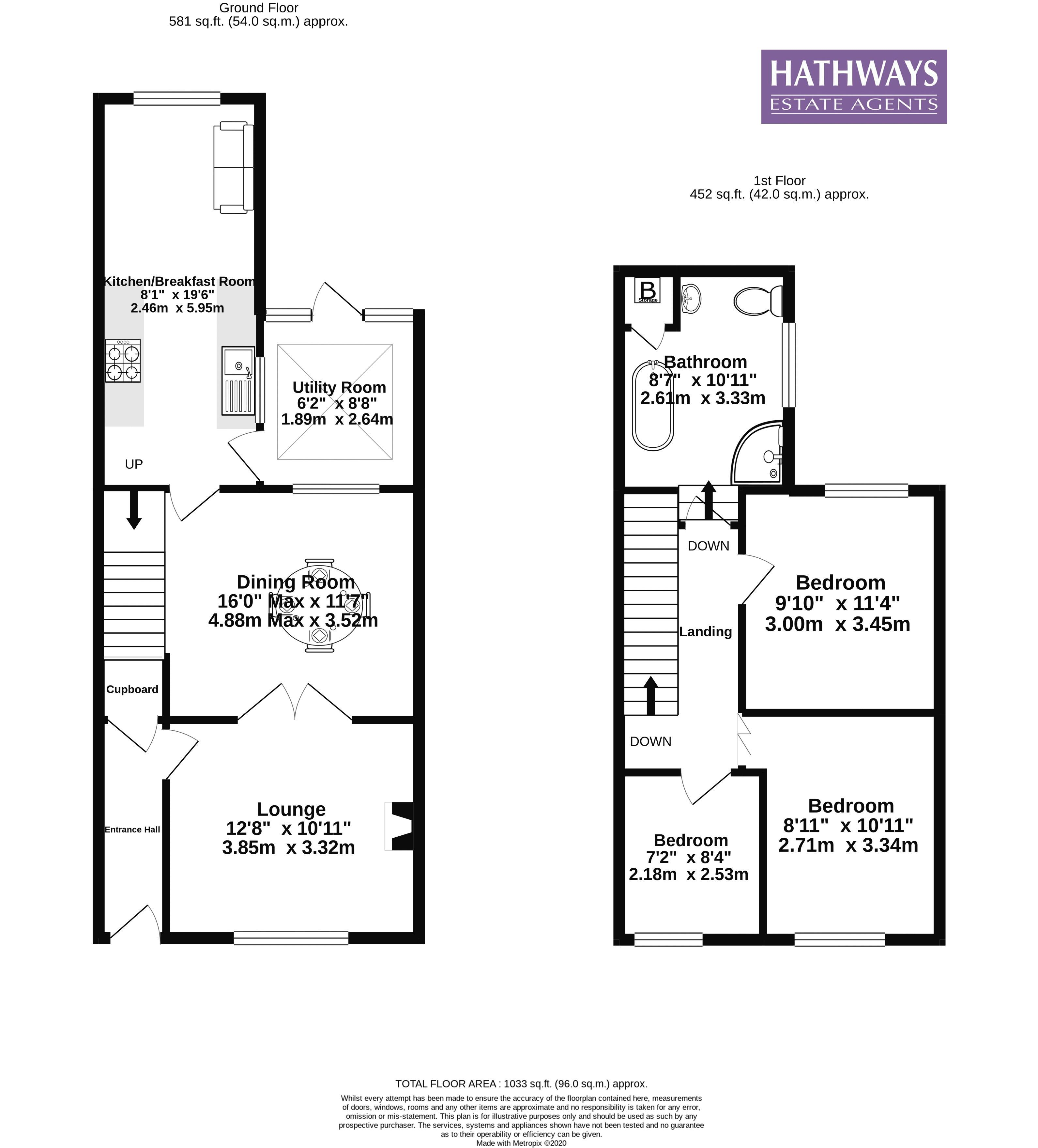 3 bed house for sale in Broad Street - Property Floorplan