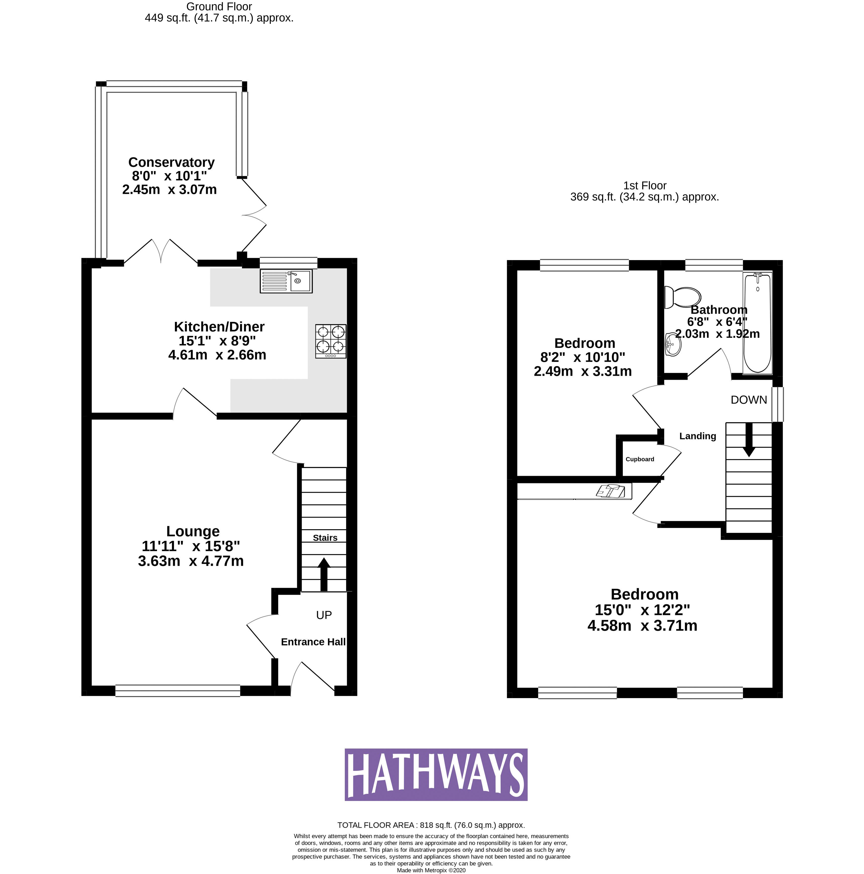 2 bed house for sale in Rosemead - Property Floorplan