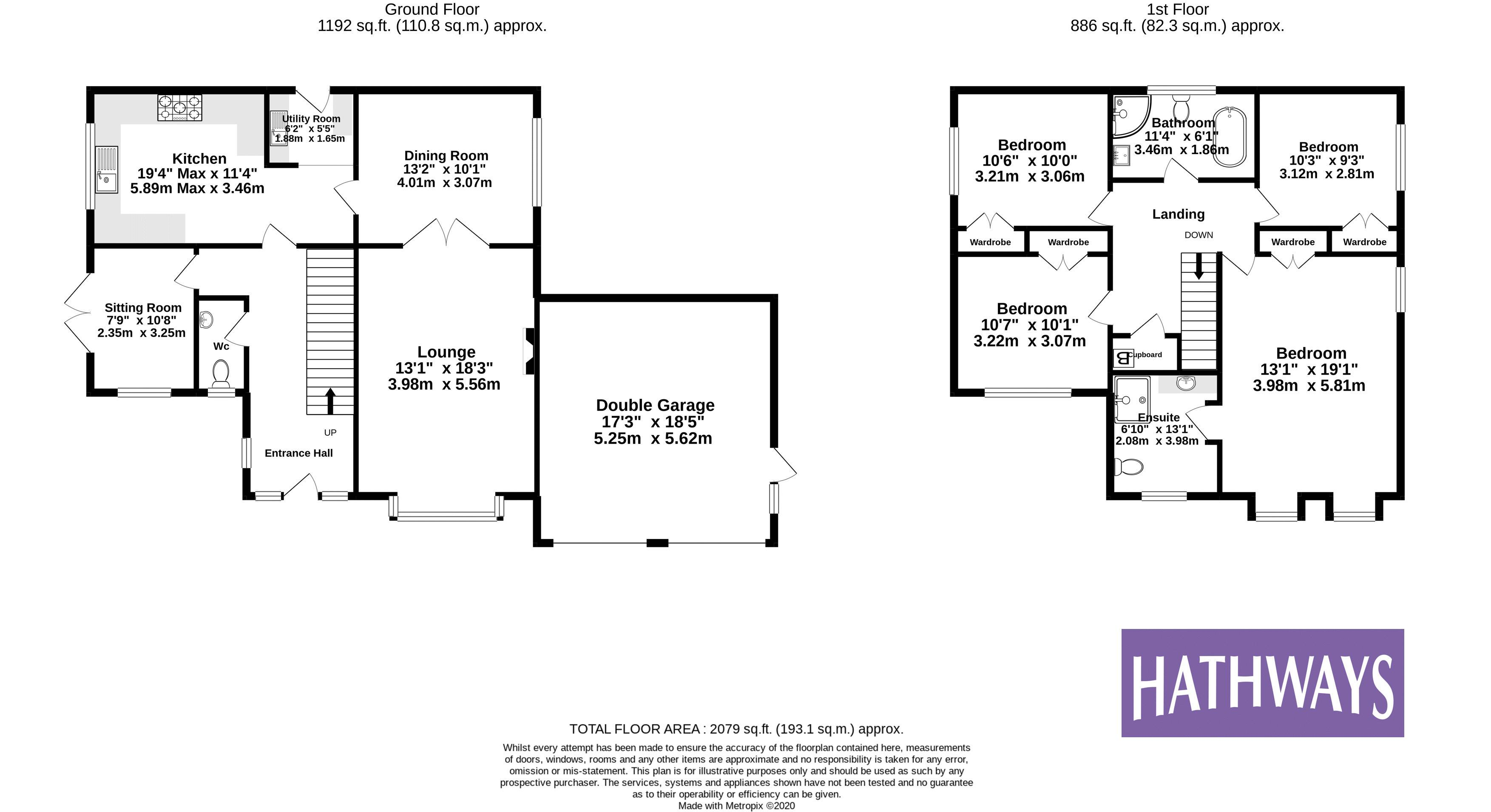 4 bed house for sale in The Chase Ton Road - Property Floorplan
