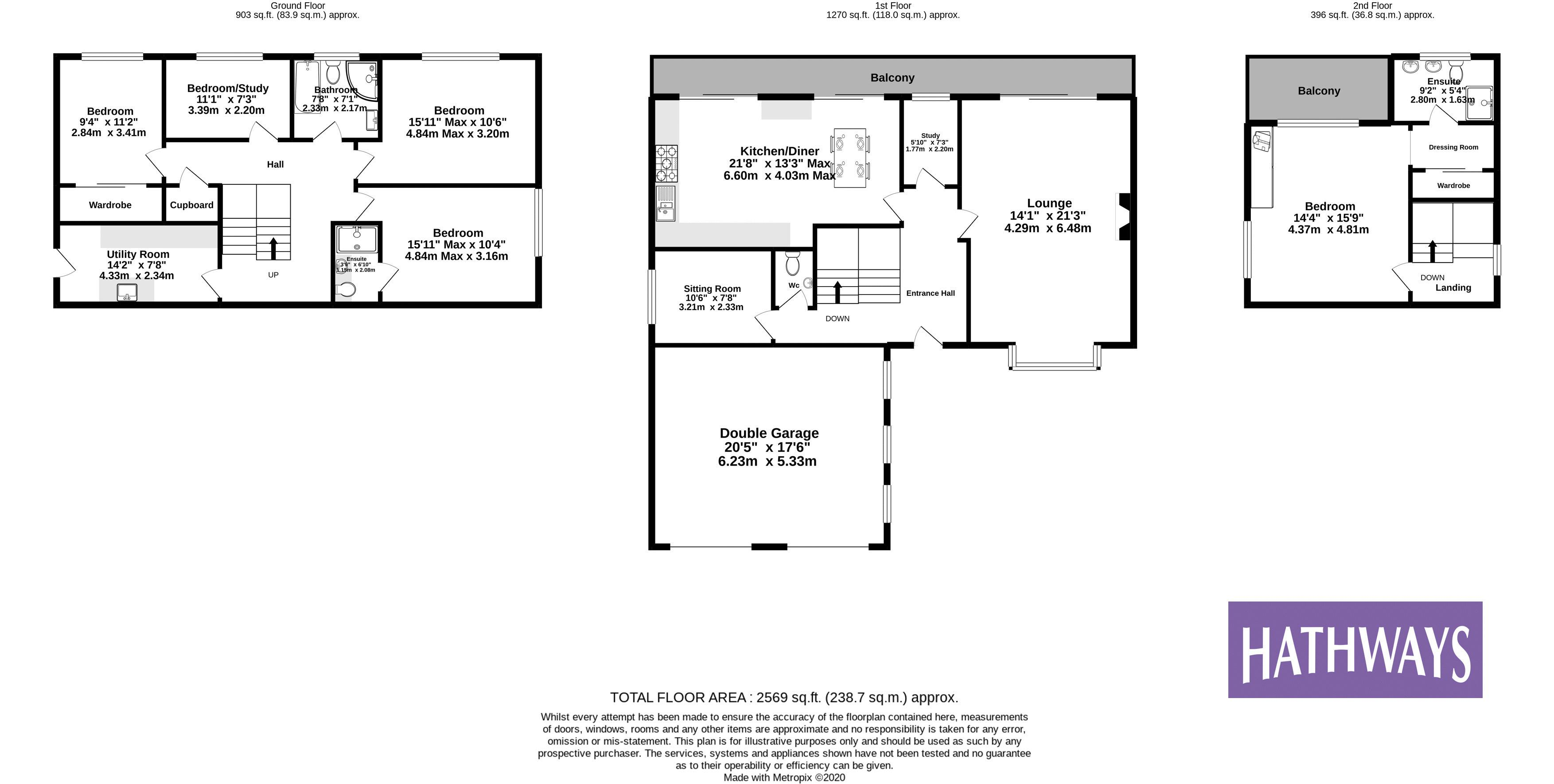 5 bed house for sale in Priory Close - Property Floorplan