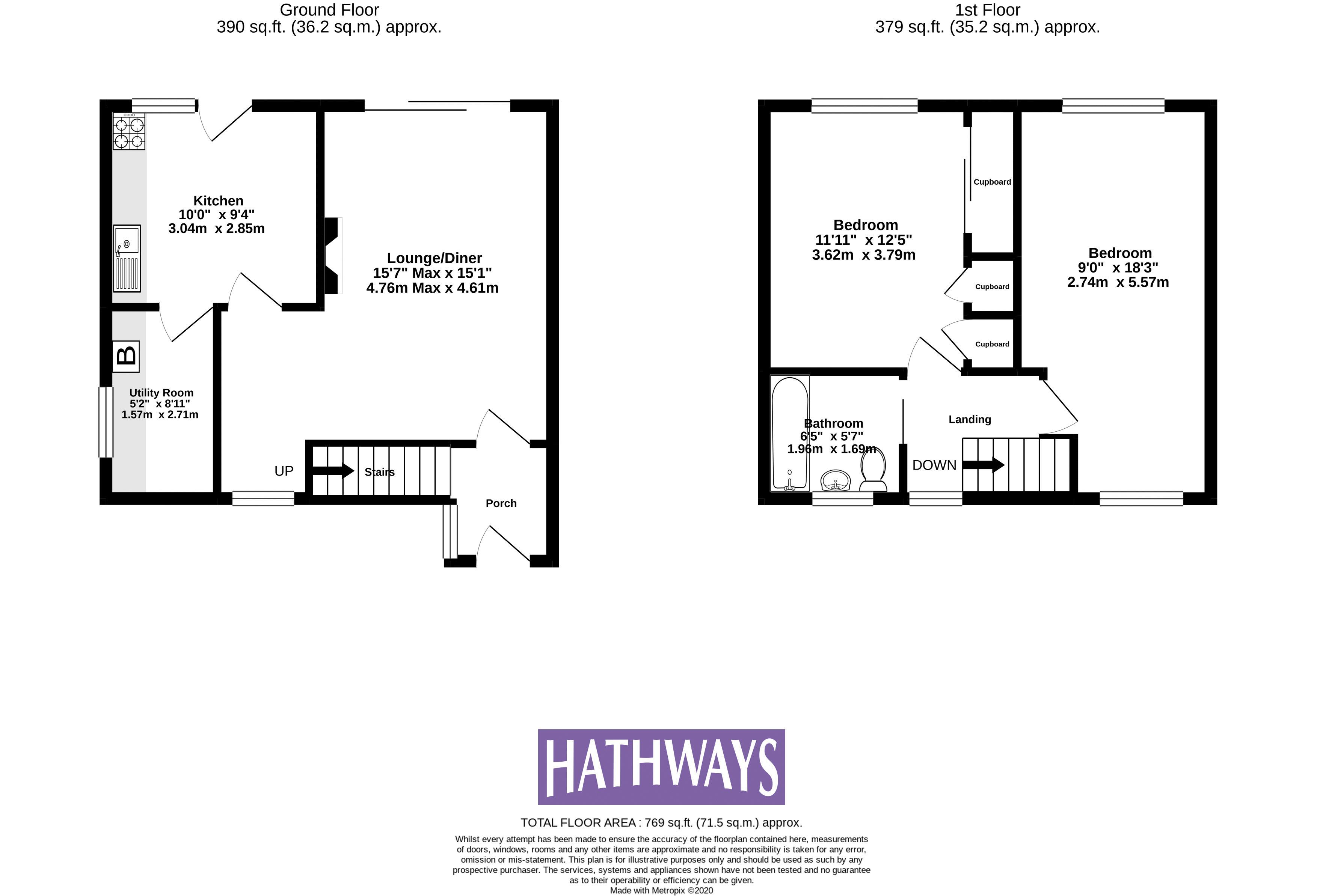 2 bed house for sale in Wordsworth Close - Property Floorplan