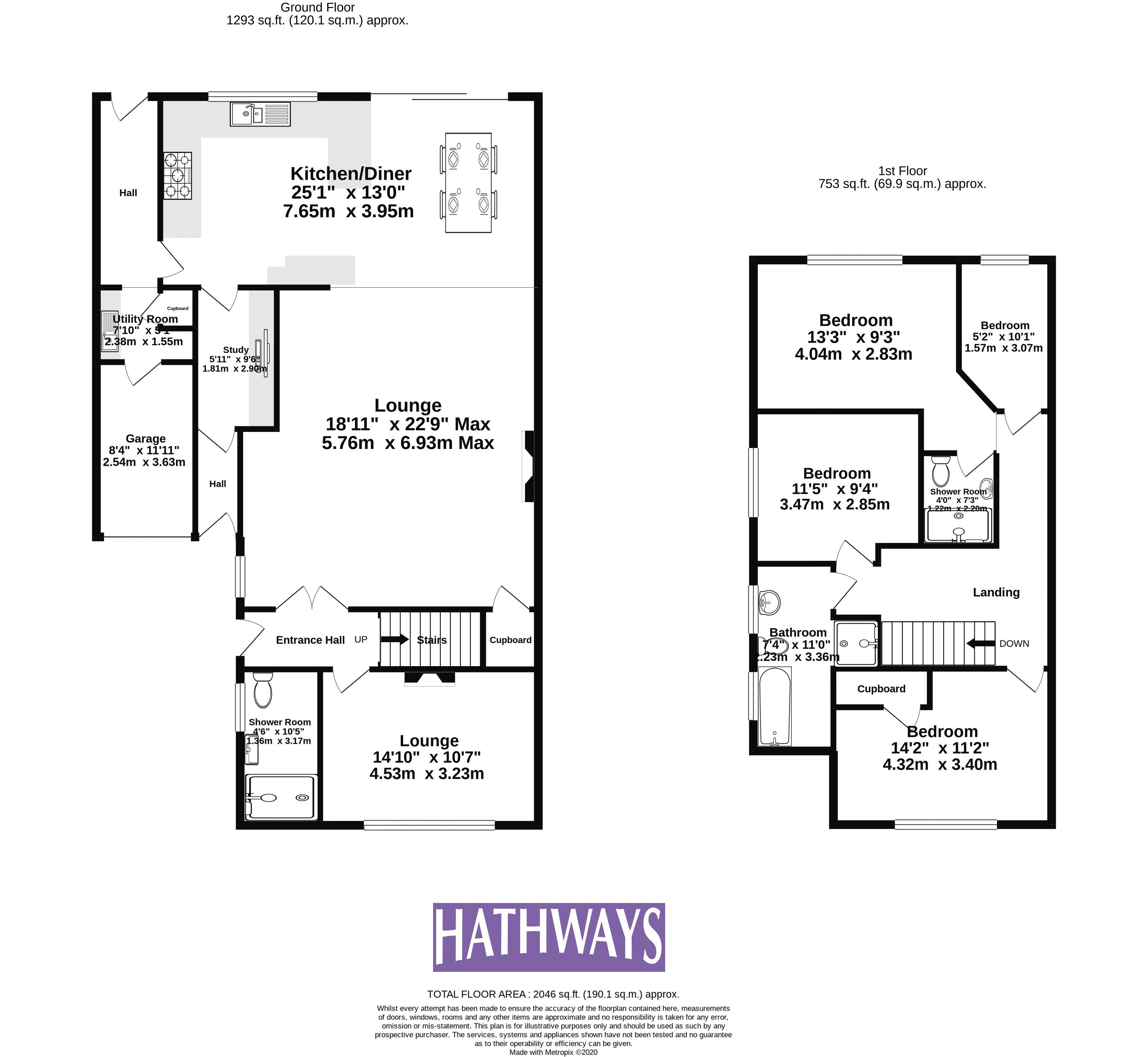 4 bed house for sale in Llanyravon Way - Property Floorplan