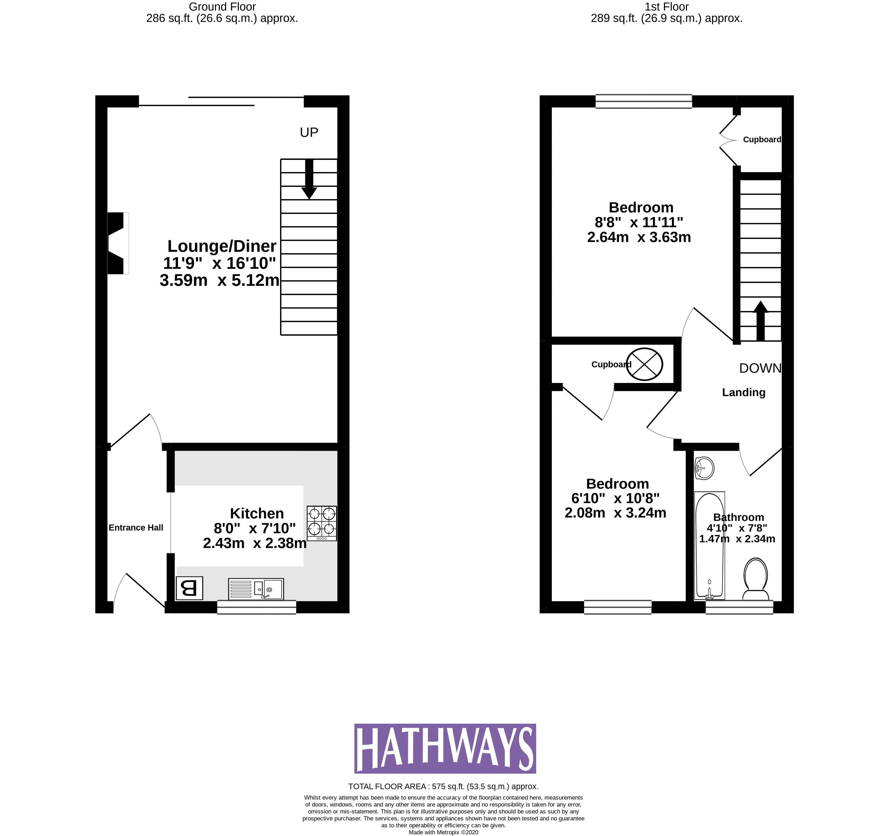 2 bed house for sale in Spring Grove - Property Floorplan