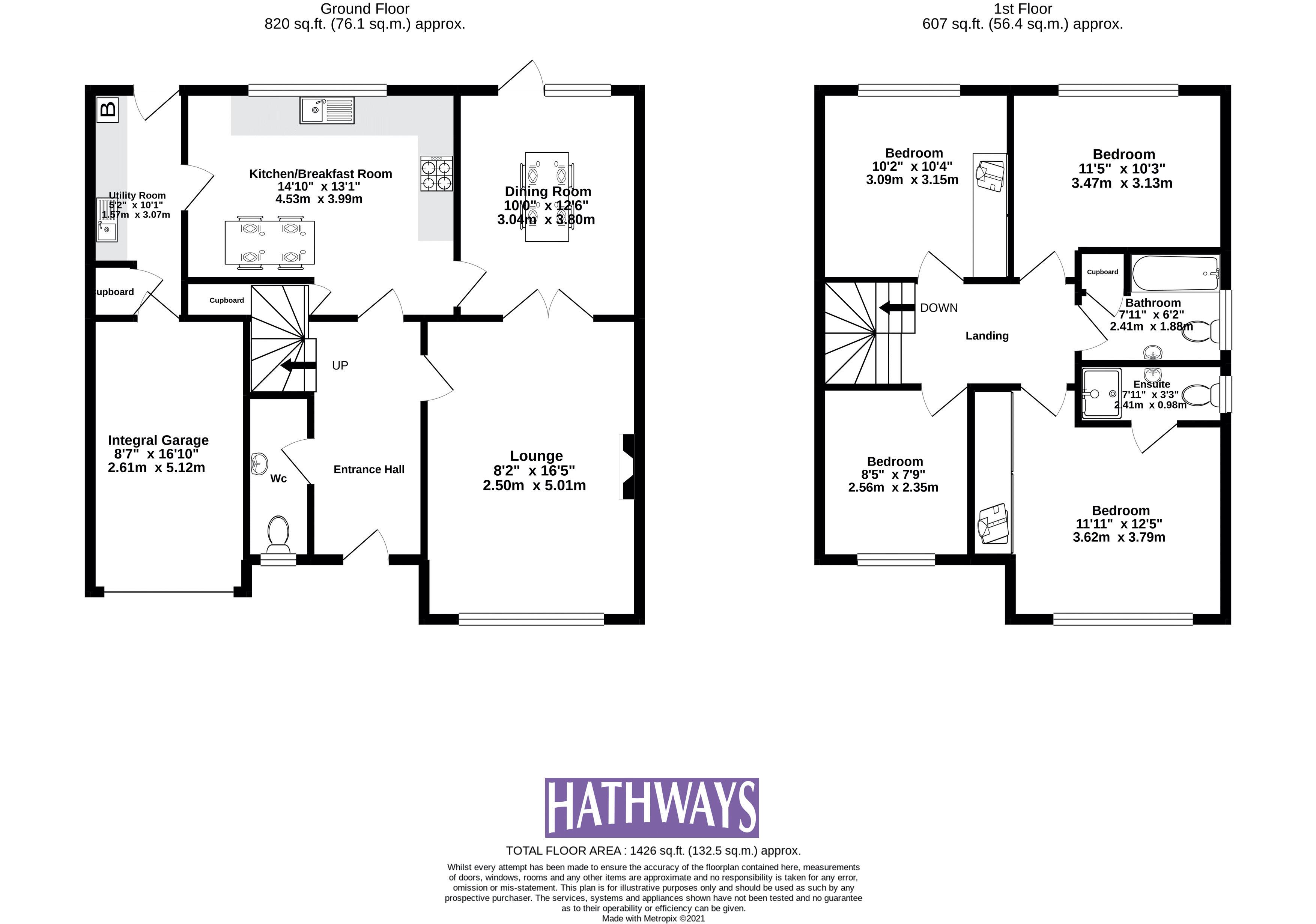 4 bed house for sale in Court Meadow - Property Floorplan