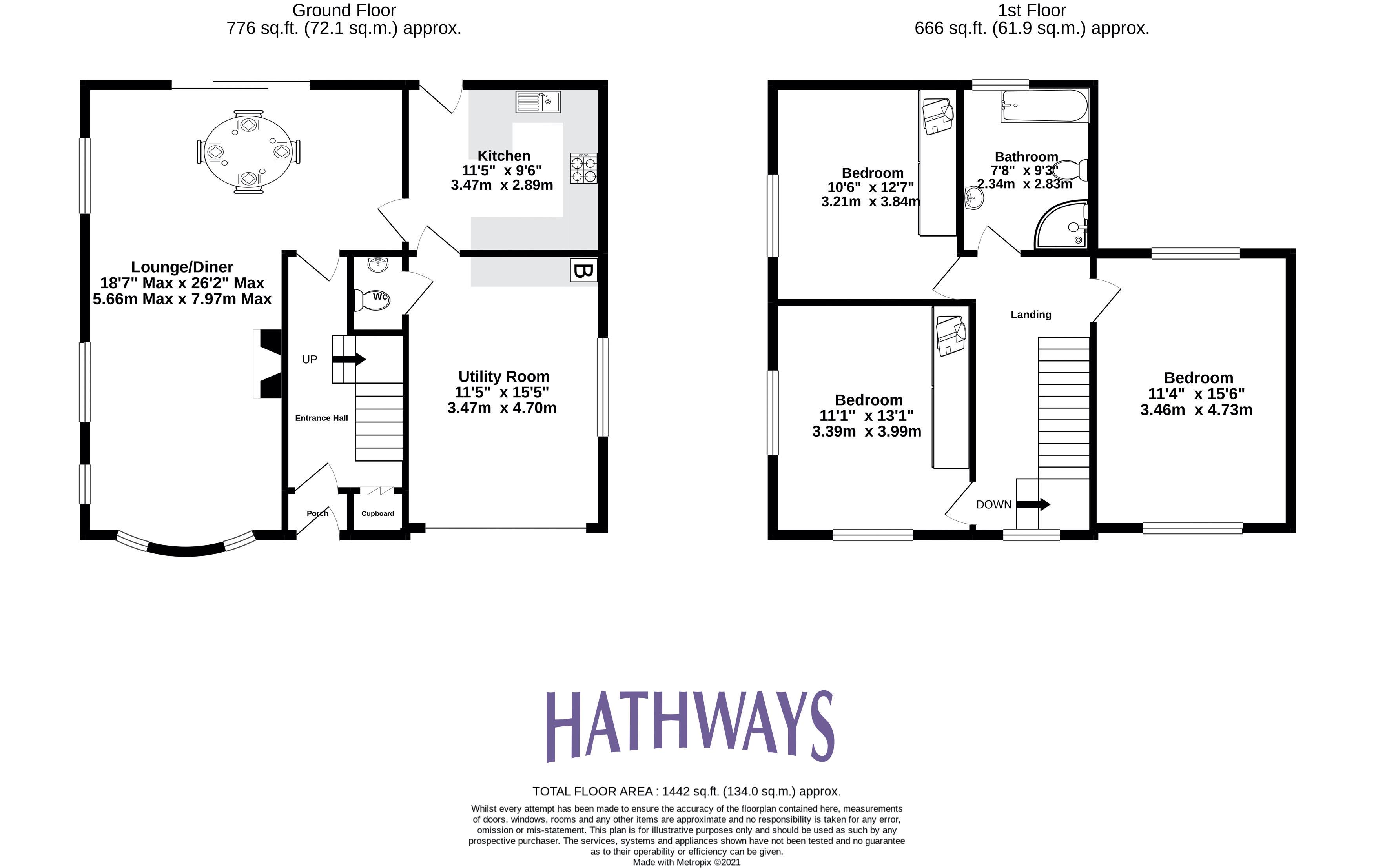 3 bed house for sale in Ashford Close - Property Floorplan