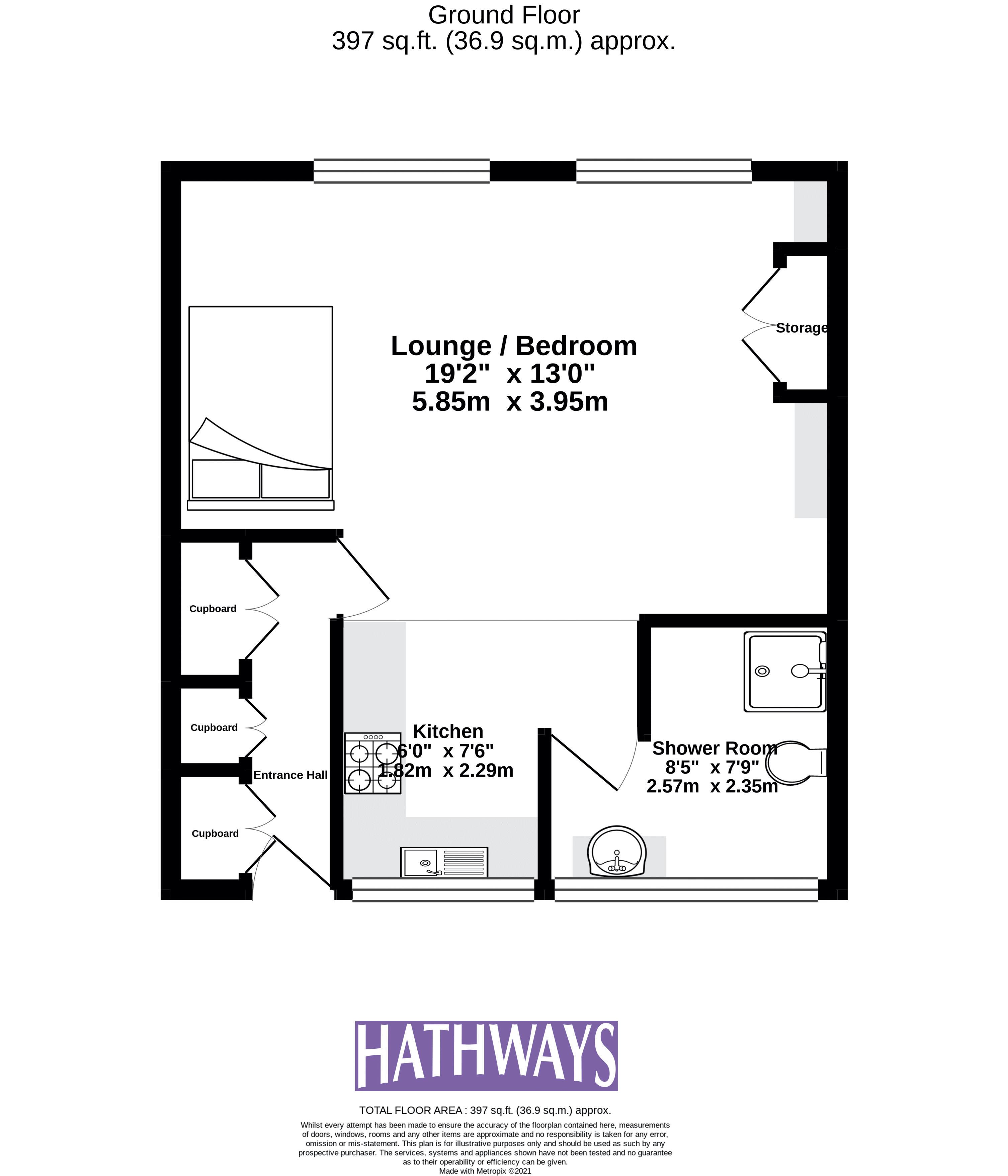 1 bed  for sale in Monmouth House - Property Floorplan
