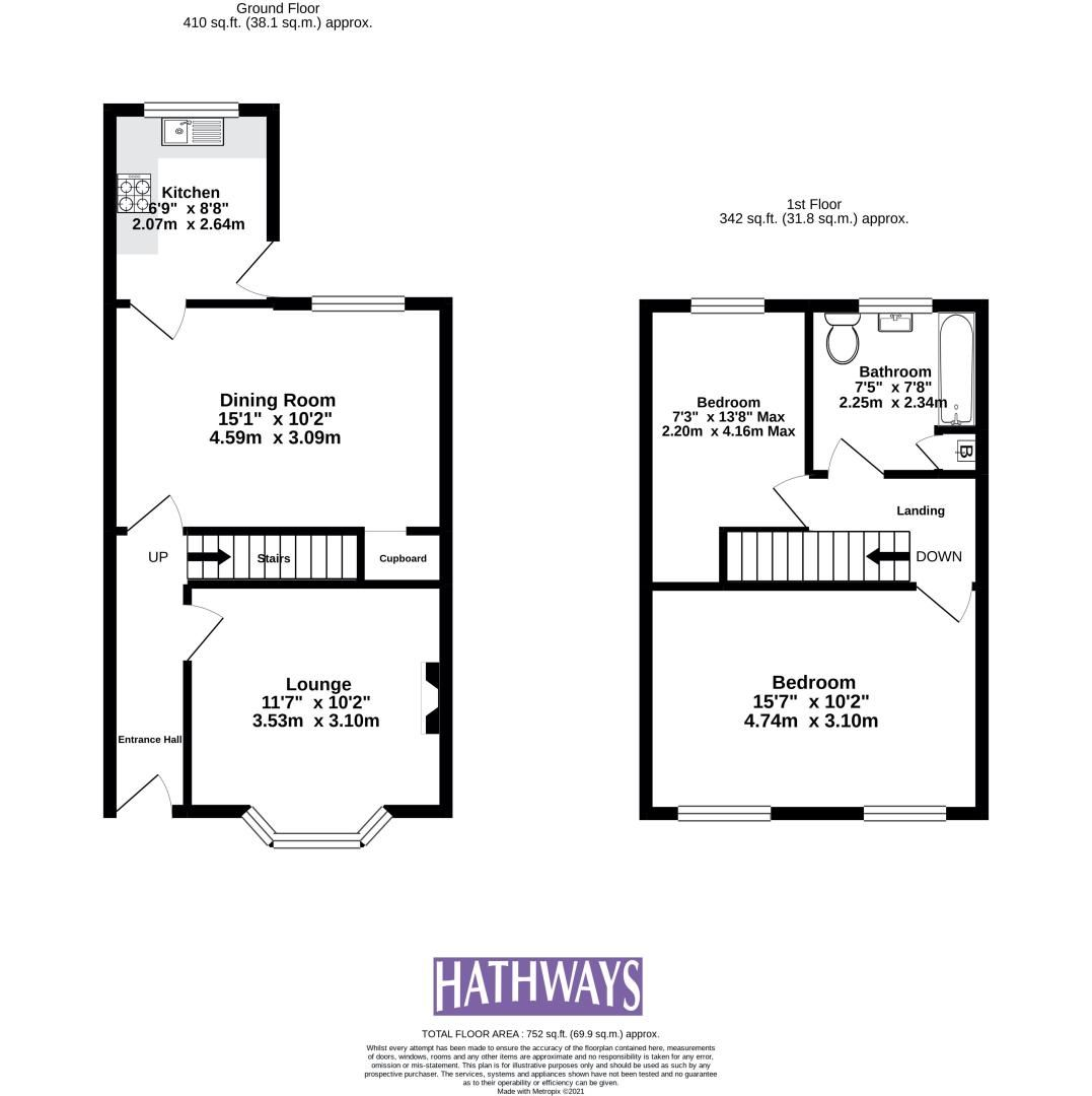 2 bed house for sale in Wainfelin Road  - Property Image 2