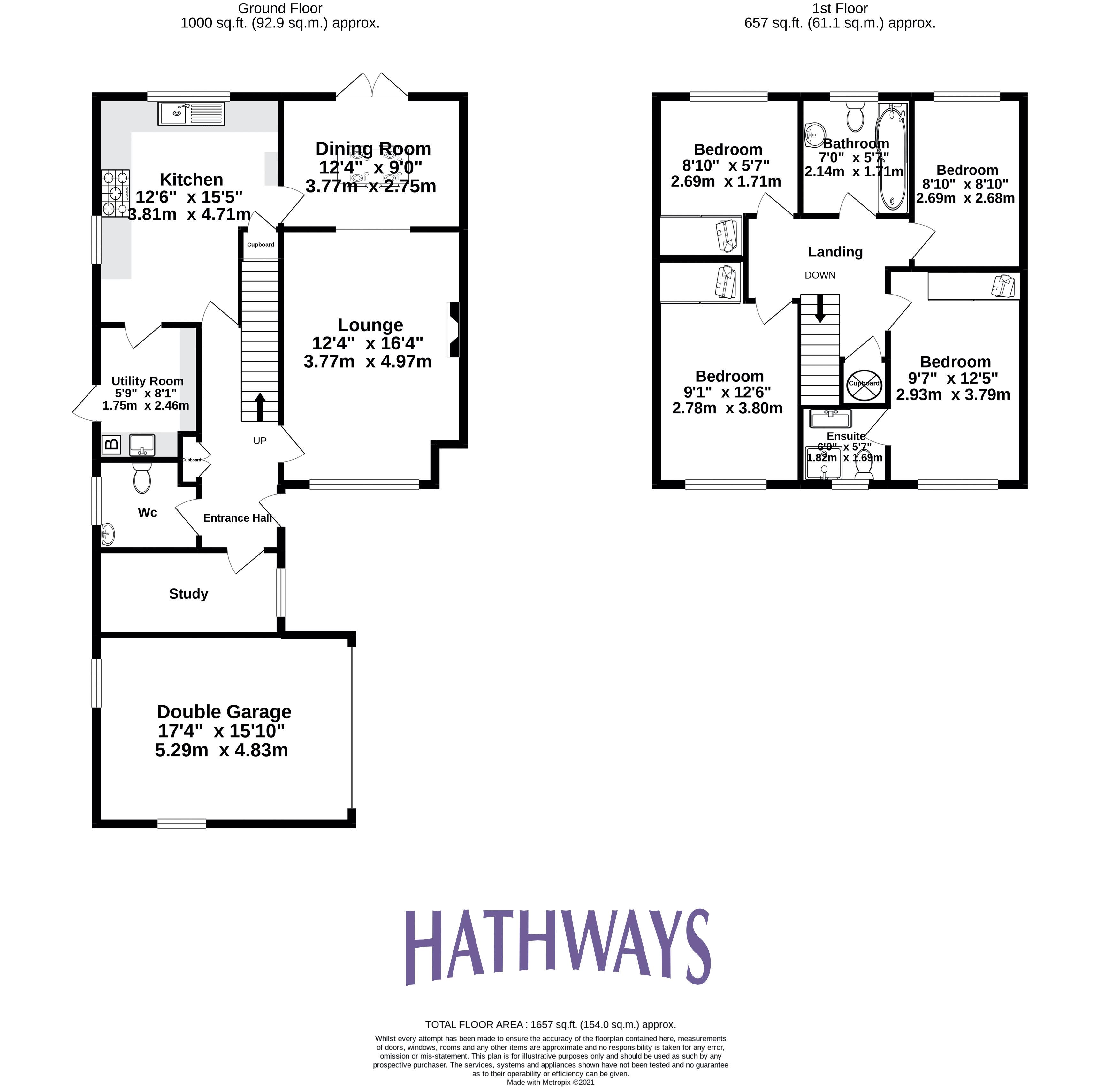 4 bed  for sale in Candwr Park - Property Floorplan