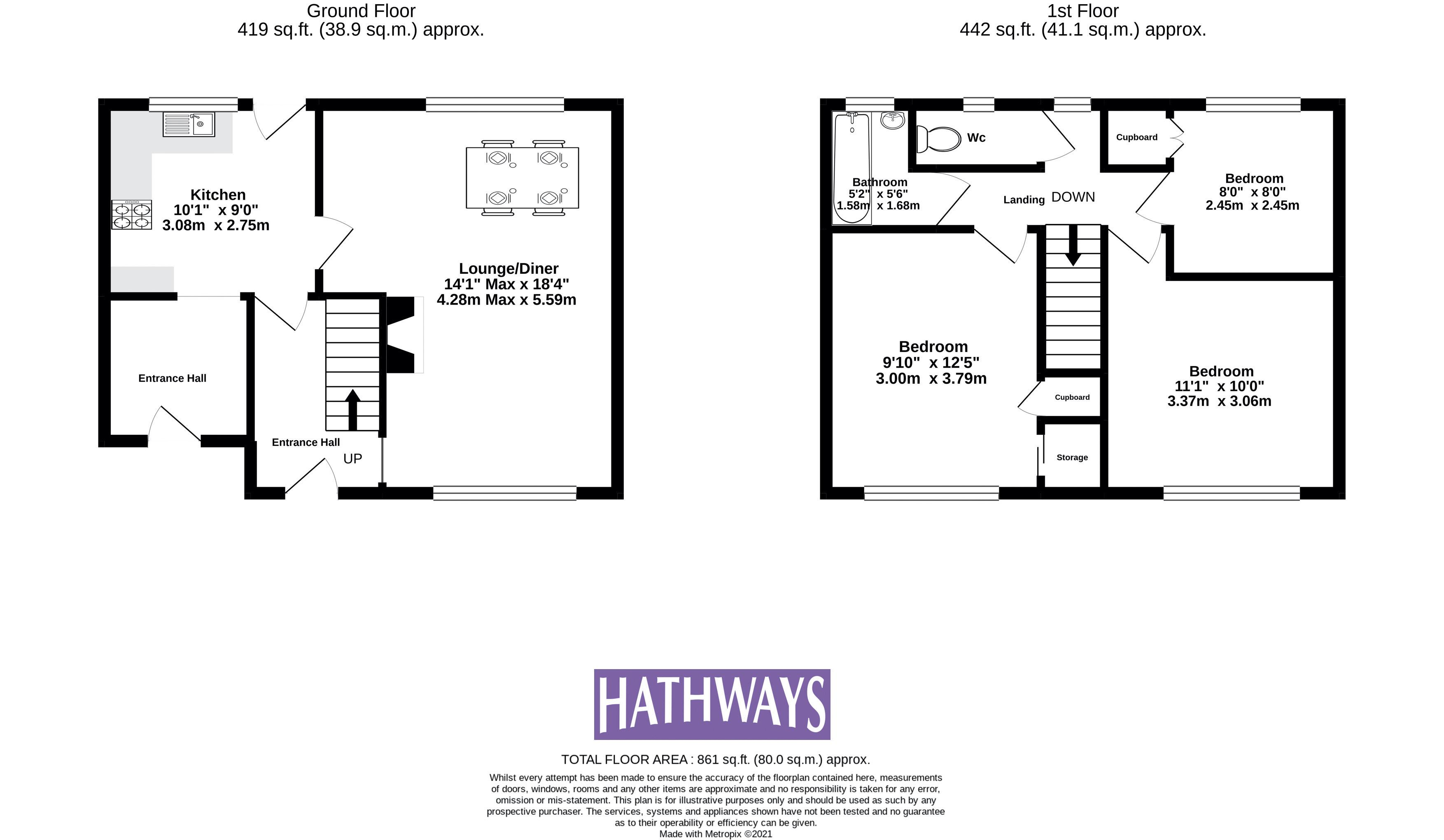 3 bed house for sale in Fisher Close - Property Floorplan