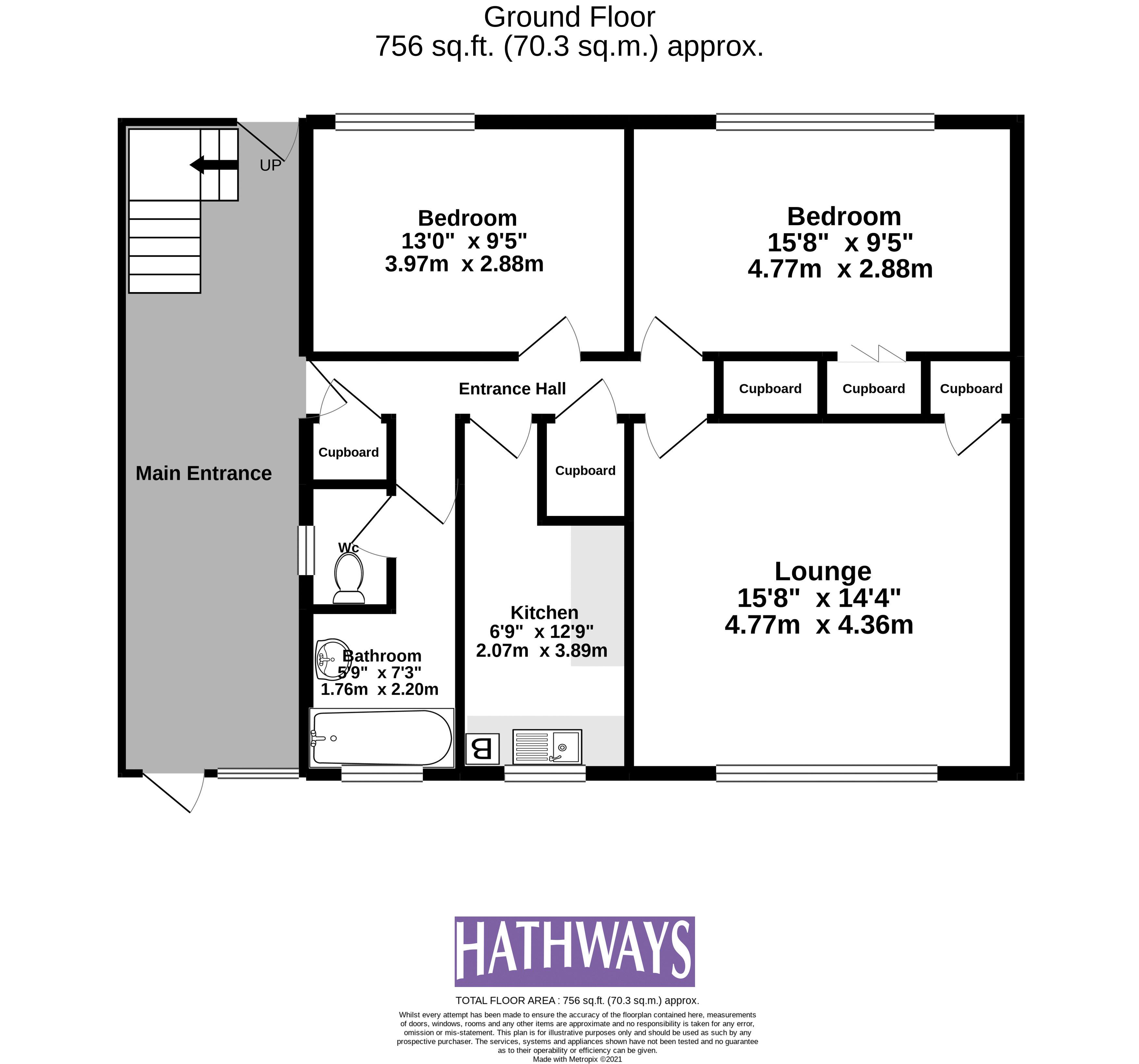2 bed flat for sale in Kemys Fawr Close - Property Floorplan