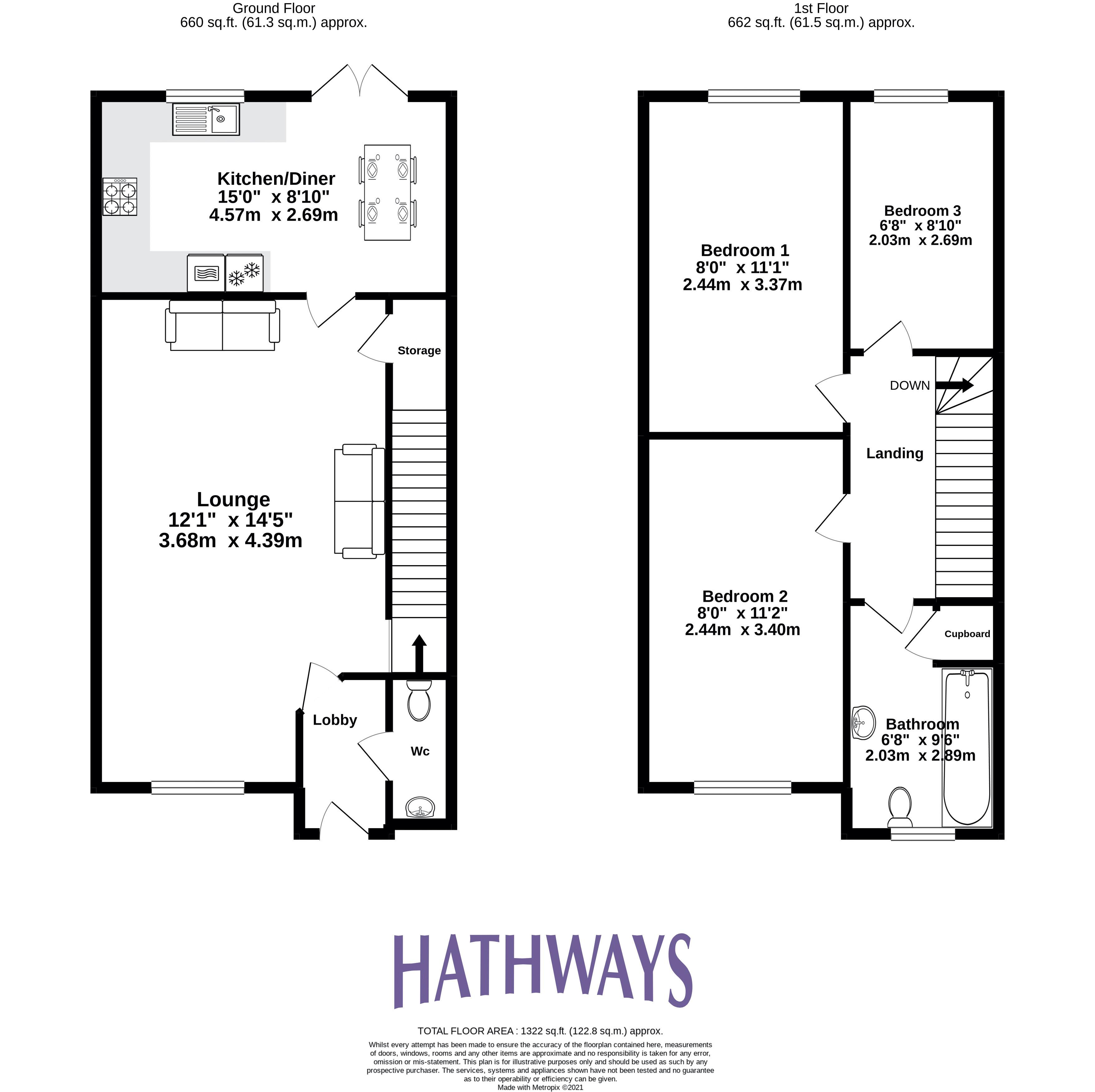 3 bed house for sale in James Prosser Way - Property Floorplan