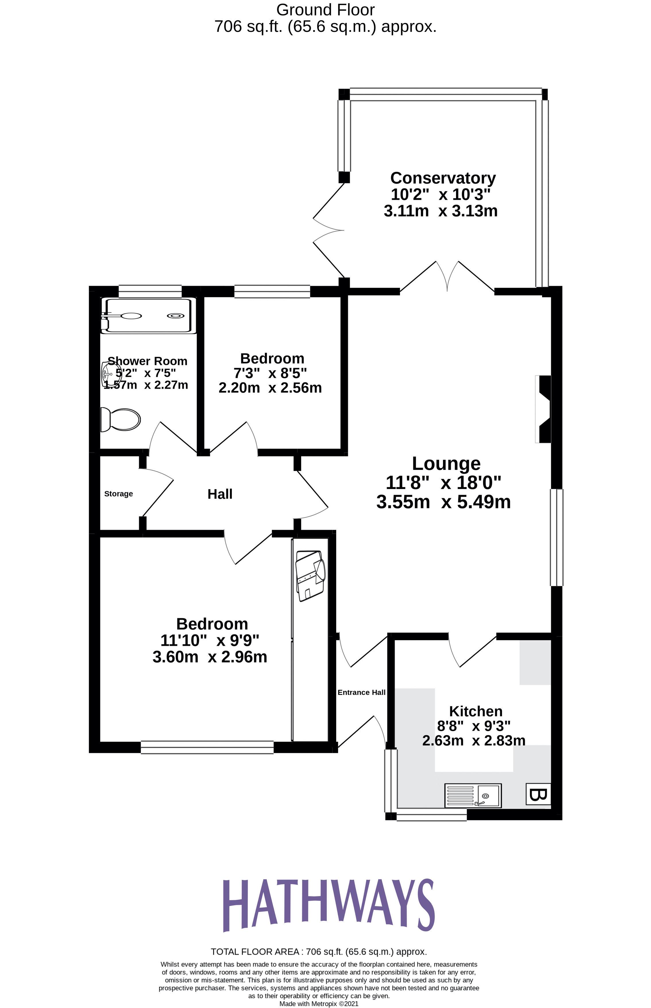 2 bed bungalow for sale in Daffodil Court - Property Floorplan