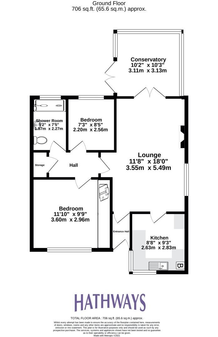 2 bed bungalow for sale in Daffodil Court 2