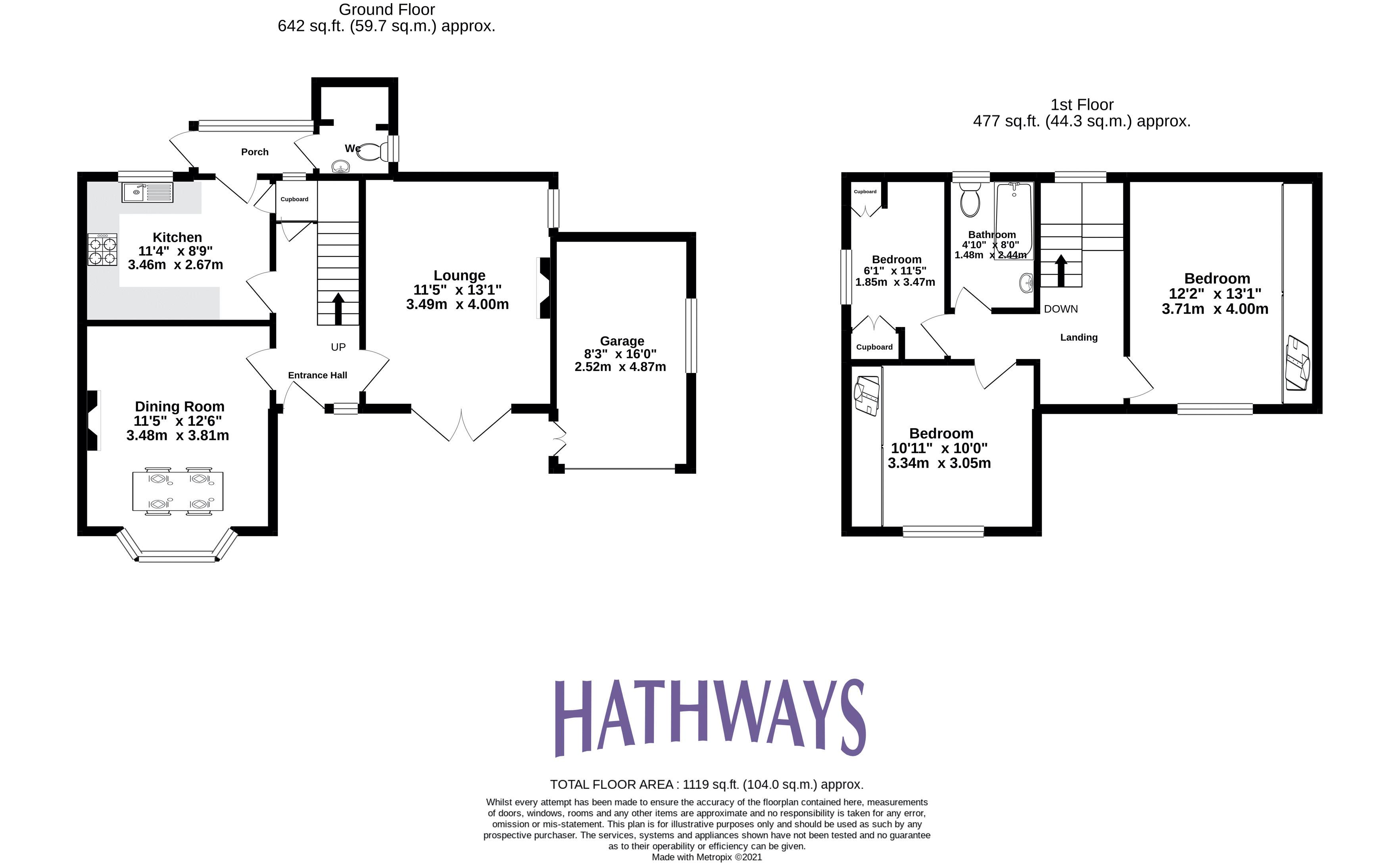 3 bed house for sale in Parc Avenue - Property Floorplan