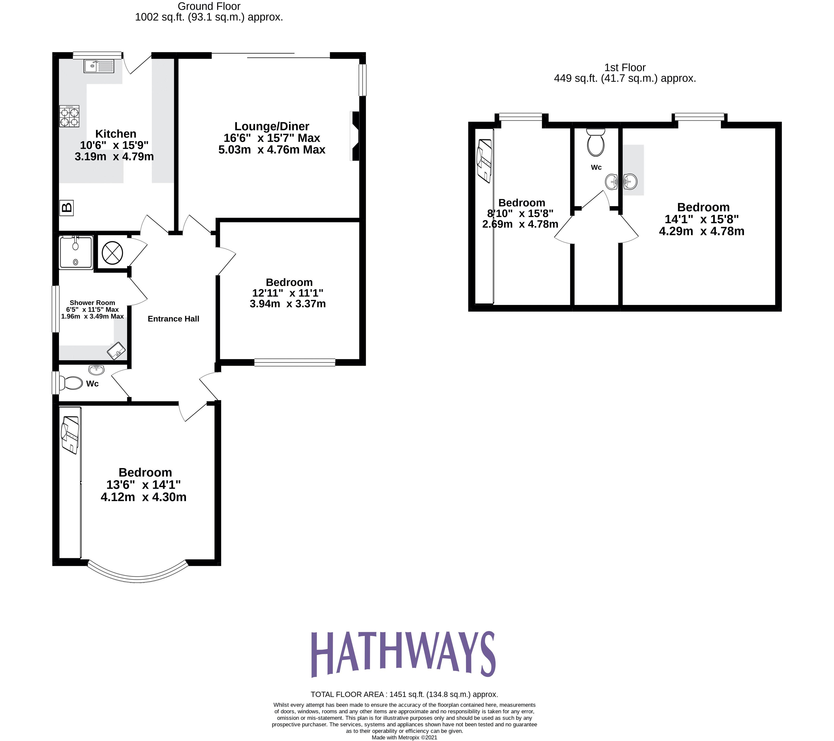 3 bed bungalow for sale in Ashford Close - Property Floorplan