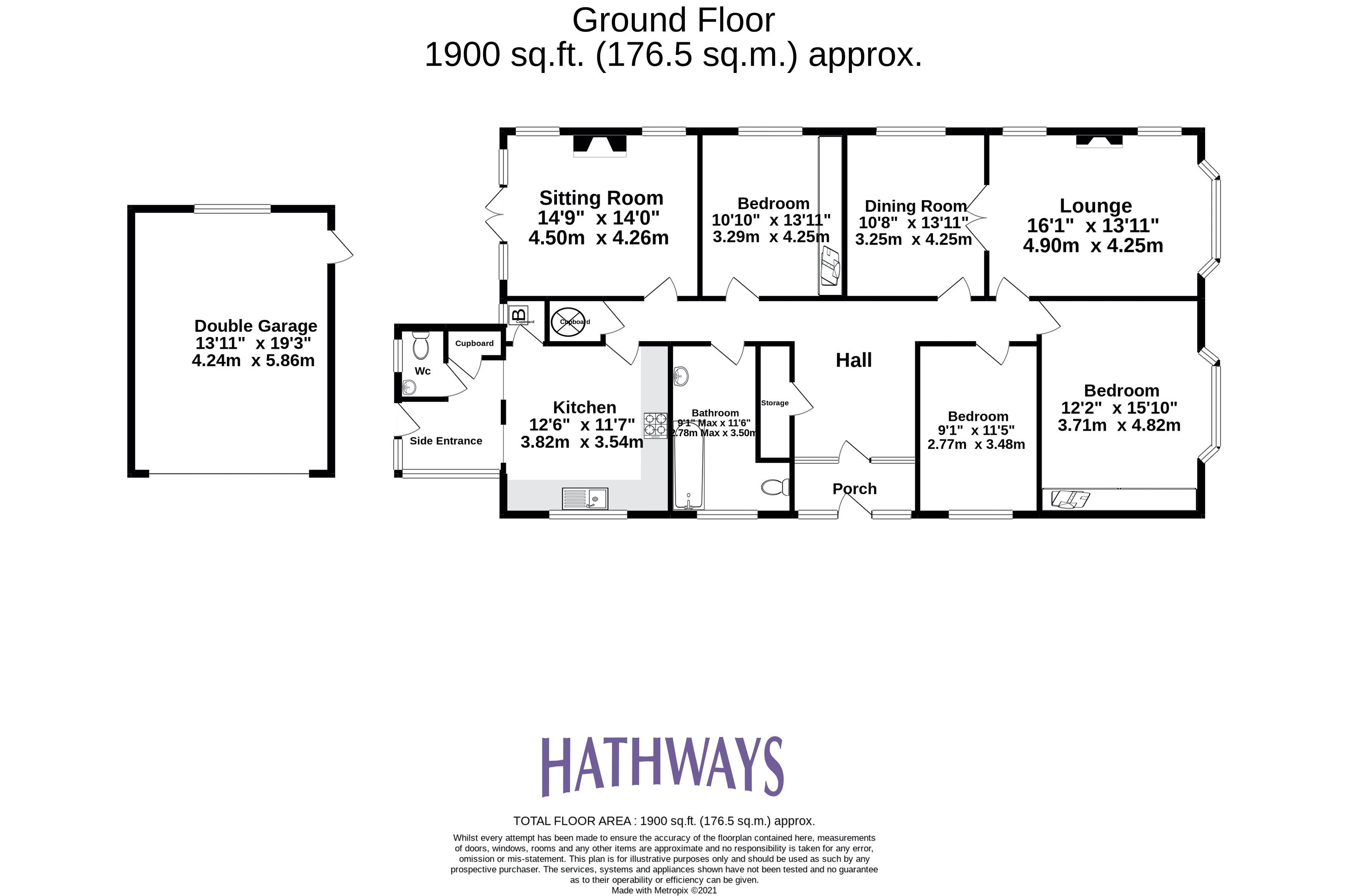 3 bed bungalow for sale in Christchurch Road - Property Floorplan