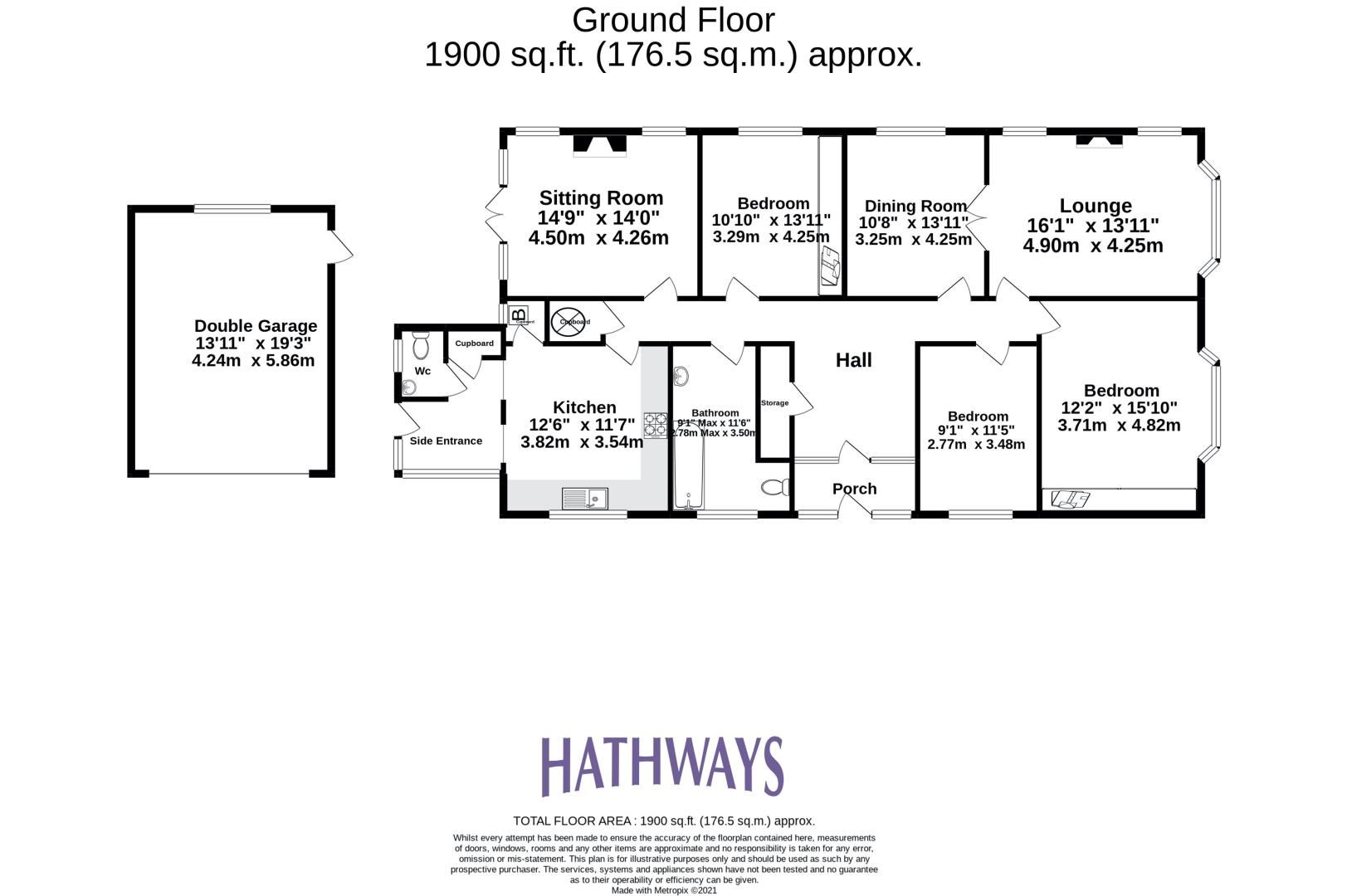 3 bed bungalow for sale in Christchurch Road  - Property Image 2