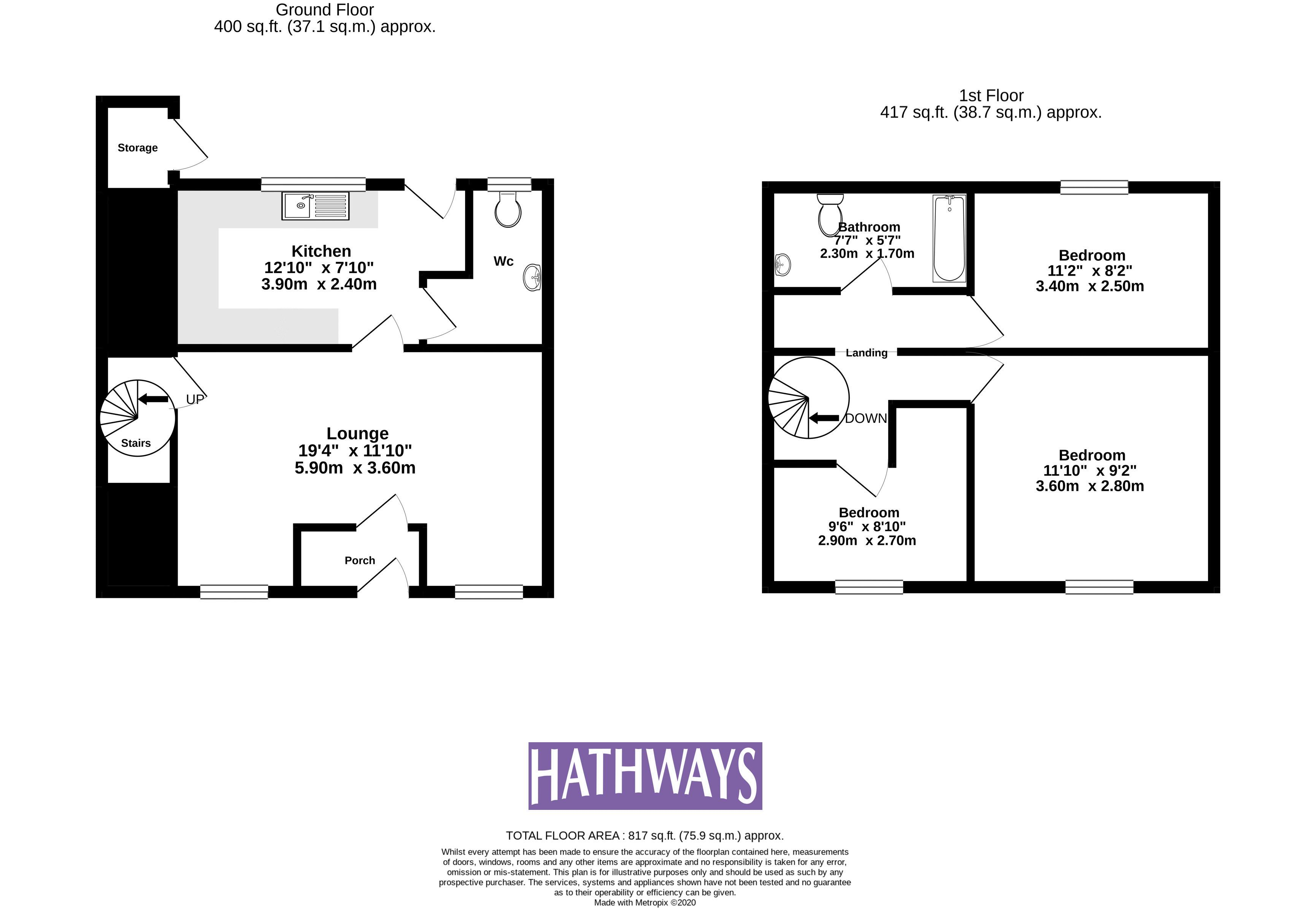 3 bed house for sale in St. Lukes Road - Property Floorplan