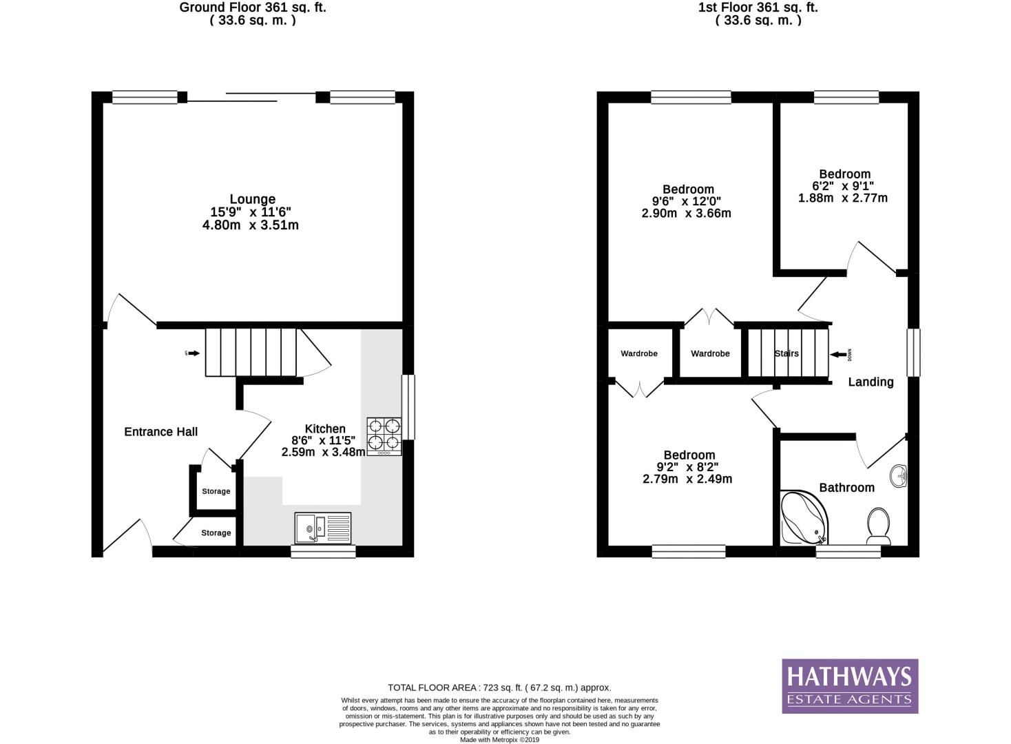 3 bed house for sale in Camelot Court - Property Floorplan