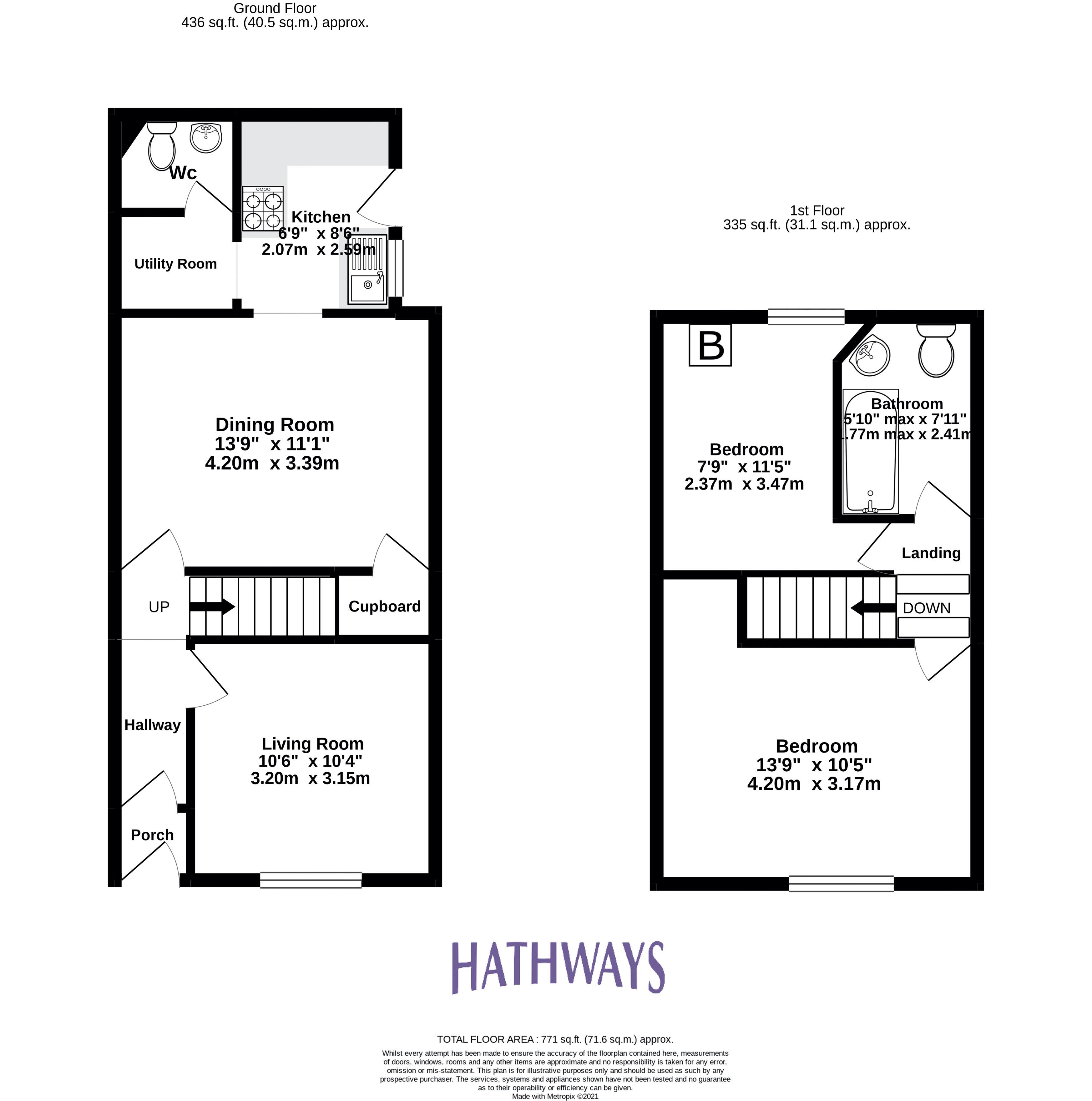 2 bed house for sale in Aberbeeg Road - Property Floorplan