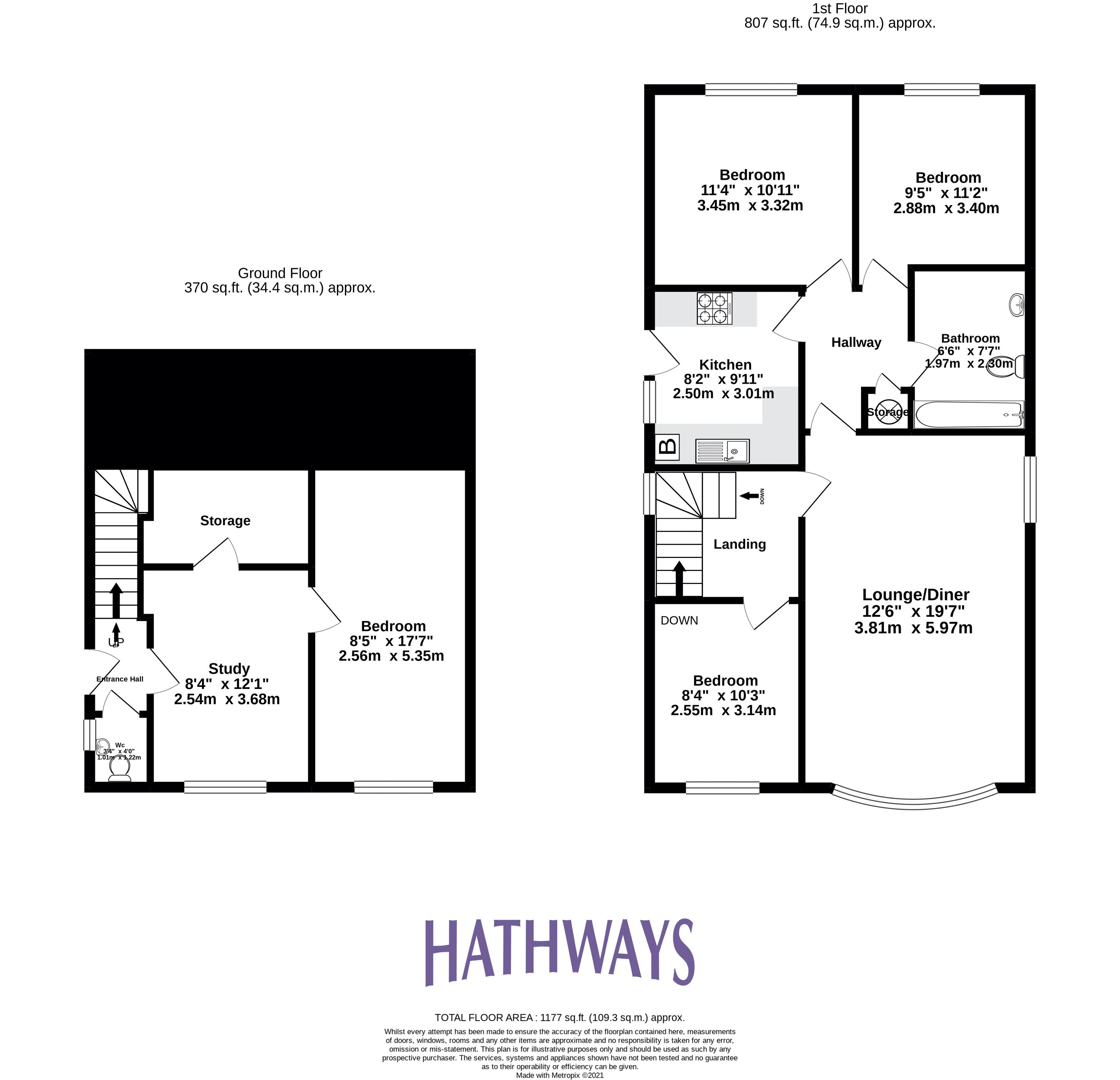 4 bed house for sale in Pant Yr Heol Close - Property Floorplan