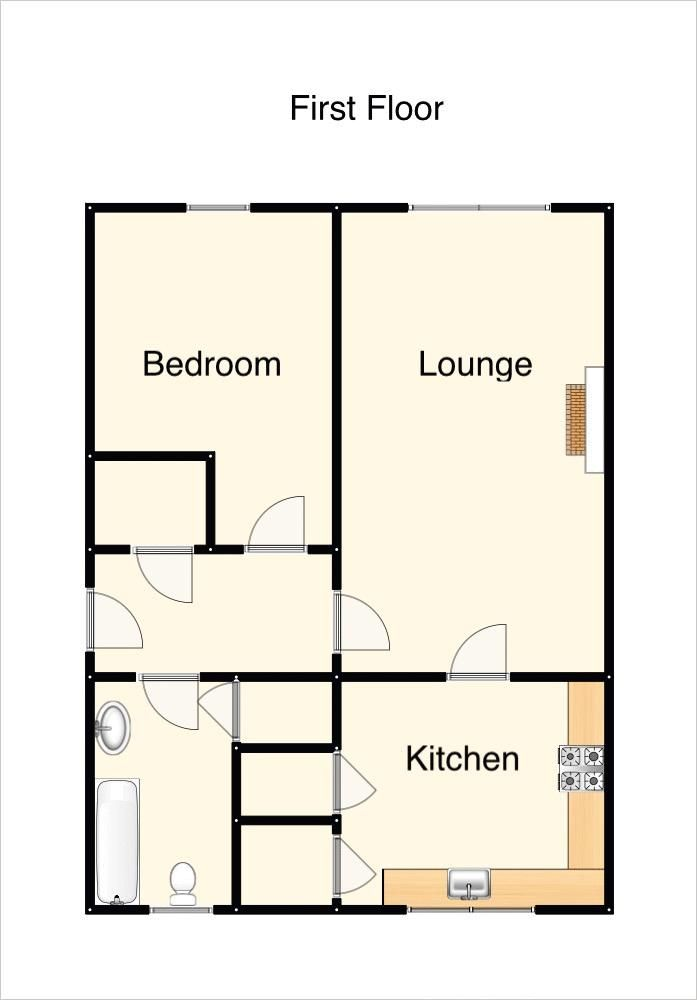 1 bed flat to rent in Bagley Court - Property Floorplan