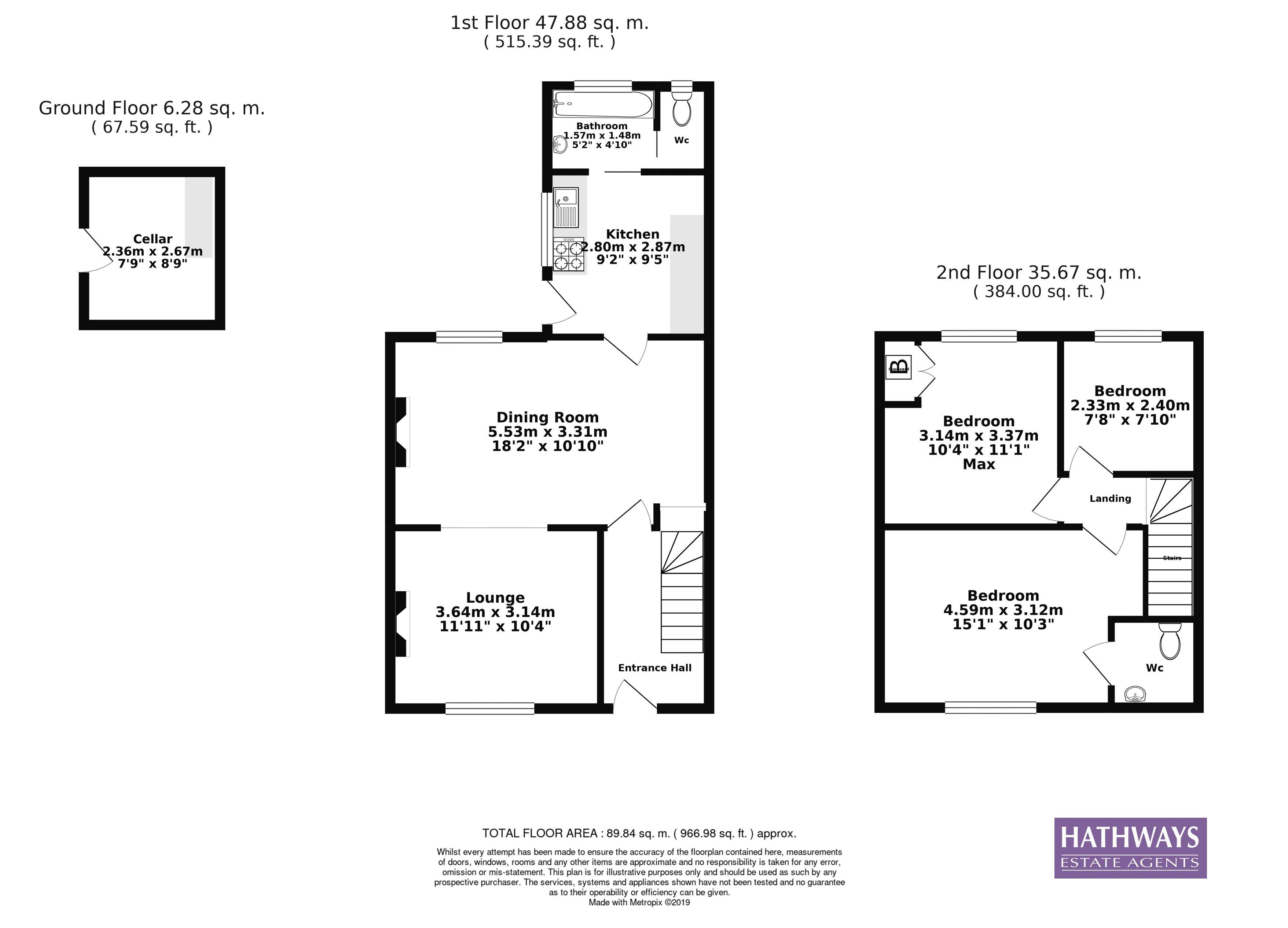 3 bed house for sale in Picton Street - Property Floorplan