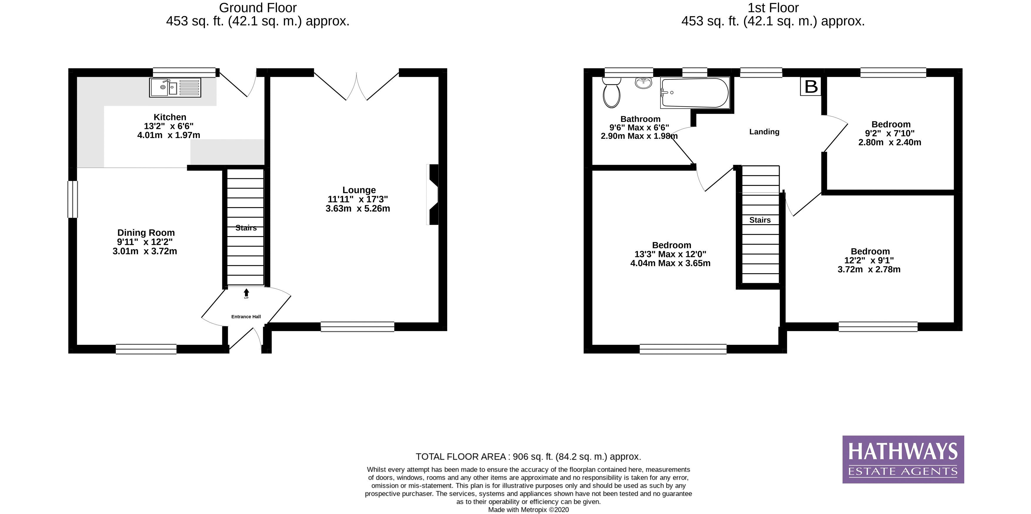 3 bed house for sale in Manor Road - Property Floorplan