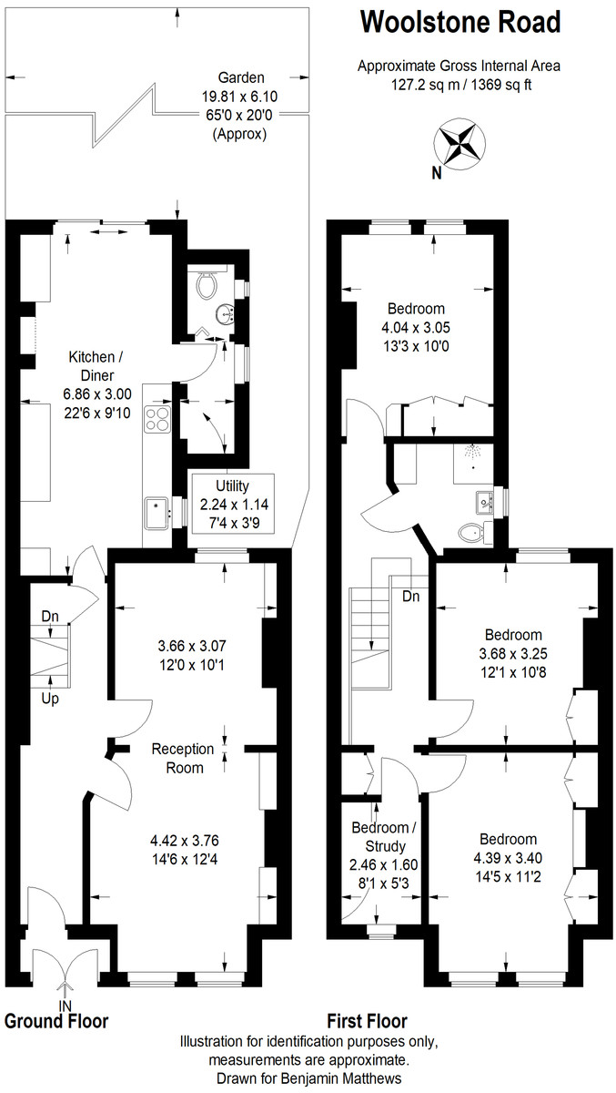 3 bed house for sale - Property Floorplan
