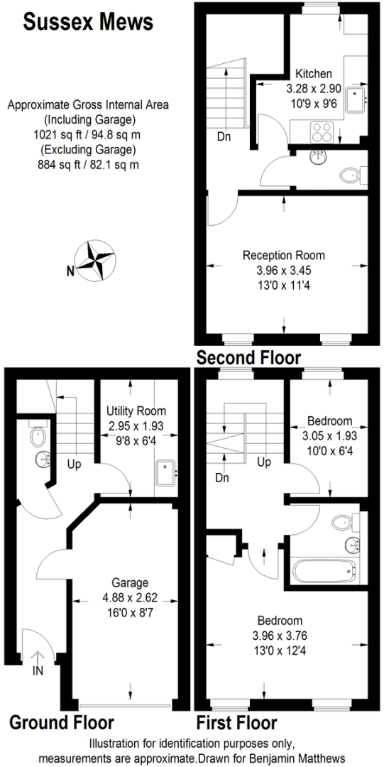 2 bed house to rent - Property Floorplan