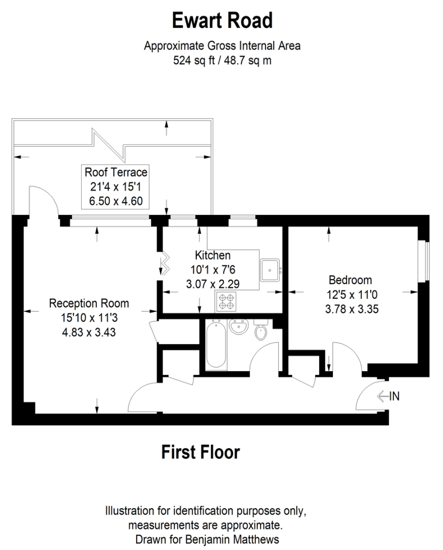 1 bed flat for sale - Property Floorplan