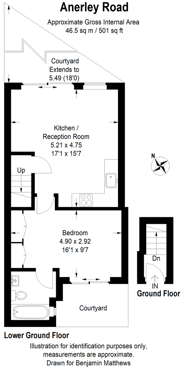 1 bed flat to rent - Property Floorplan