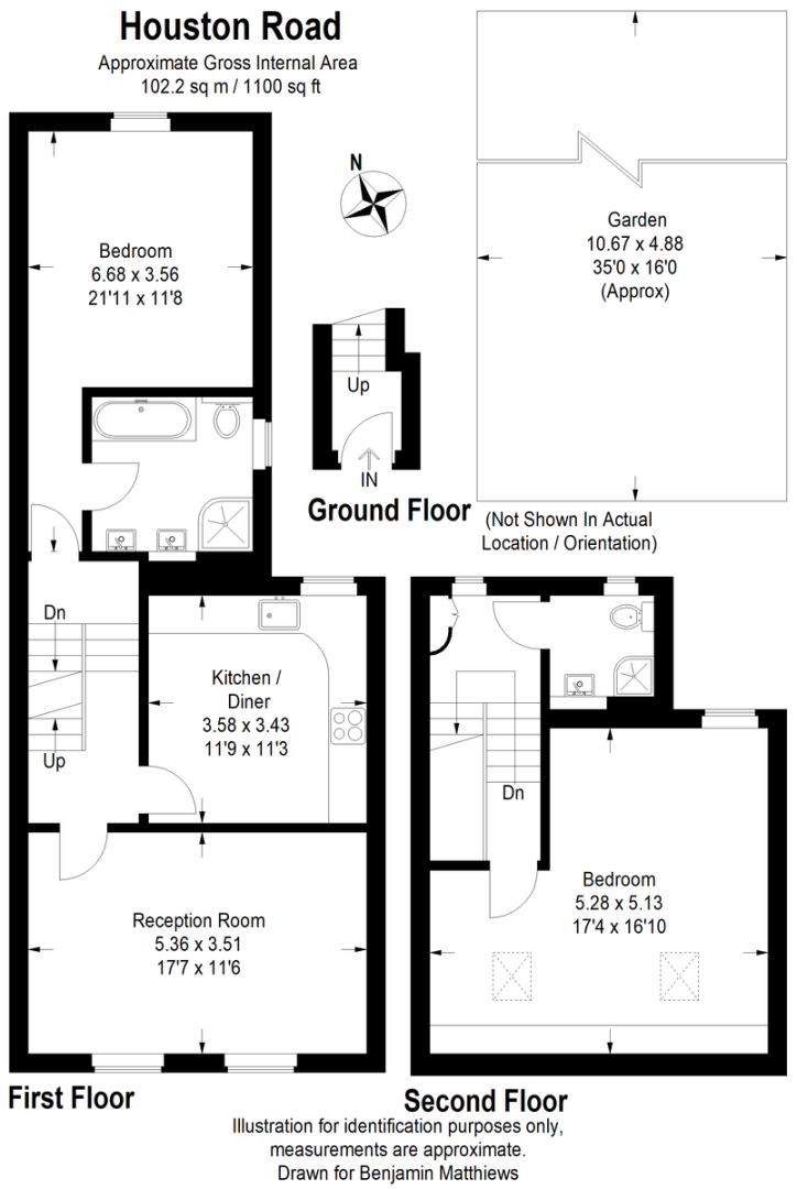 2 bed flat for sale - Property Floorplan