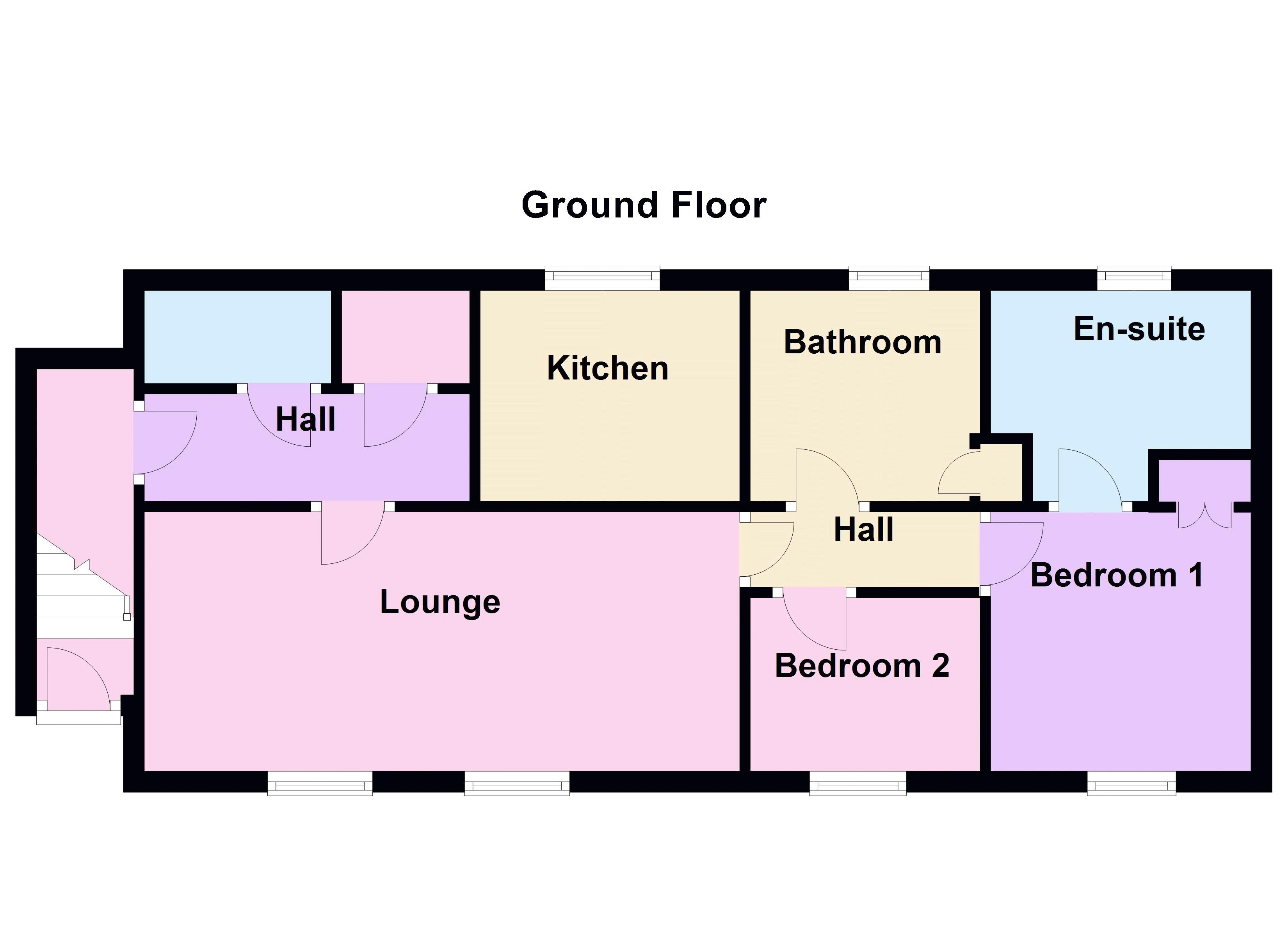 2 bed  to rent in Lady Charlotte Road - Property Floorplan