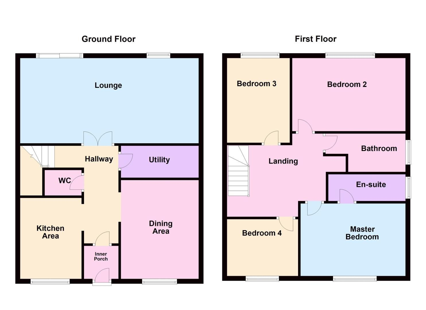4 bed house for sale in Snowley Park - Property Floorplan