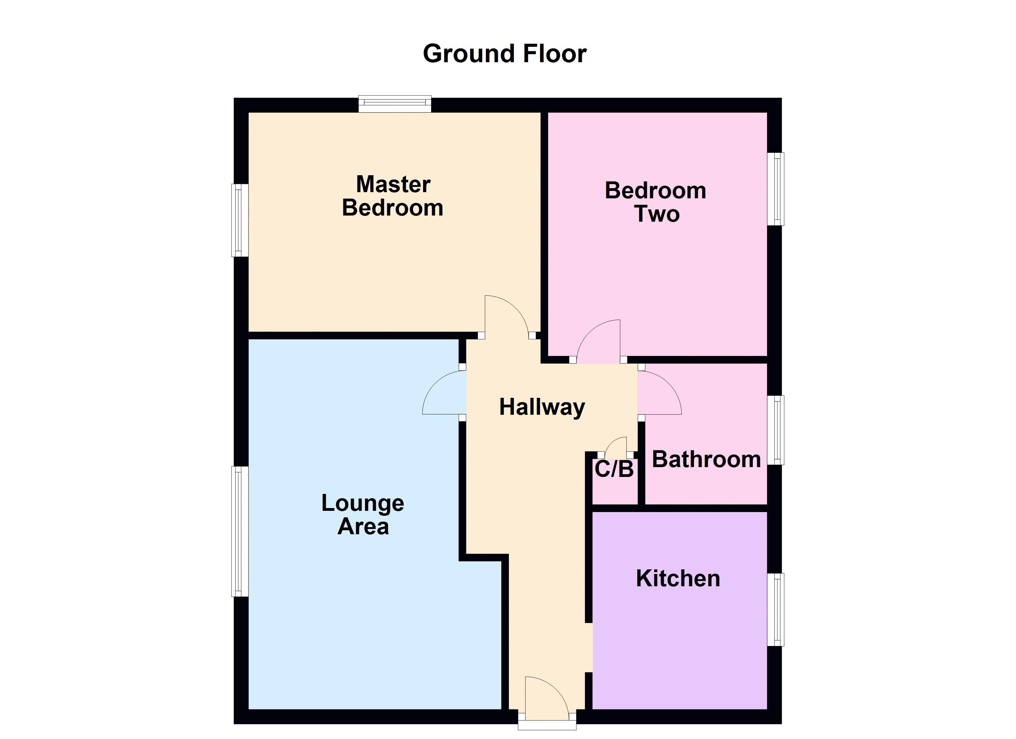 2 bed flat to rent in Bluebell Avenue - Property Floorplan