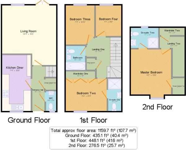 4 bed house for sale in Violet Way - Property Floorplan
