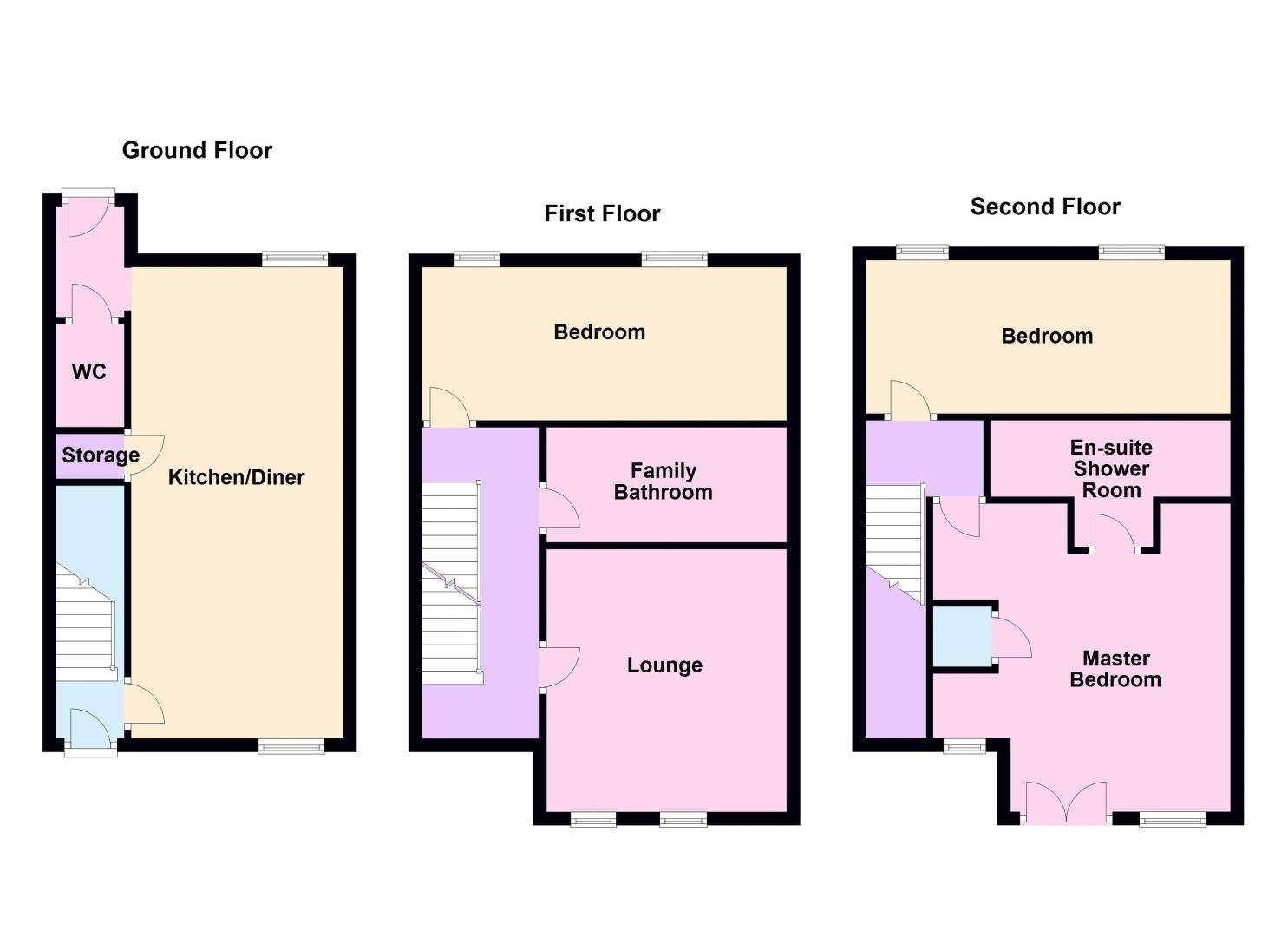 3 bed house for sale in Lakeview Way - Property Floorplan